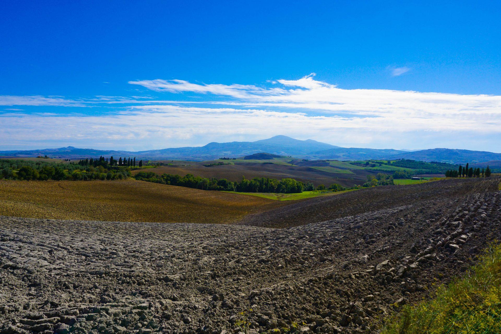 wlochy jesienią val d'orcia toskania włochy tuscany italy