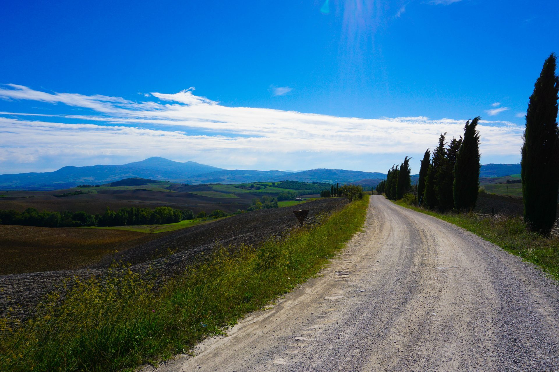 włochy toskania val d'orcia tuscany italy autumn wiosna