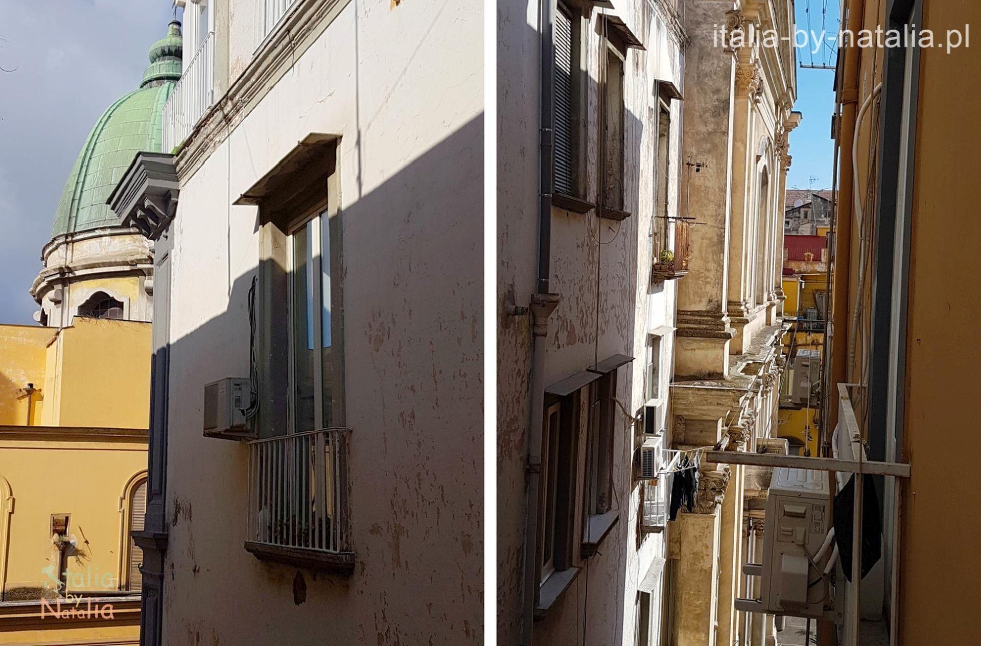 Neapol widok z okna