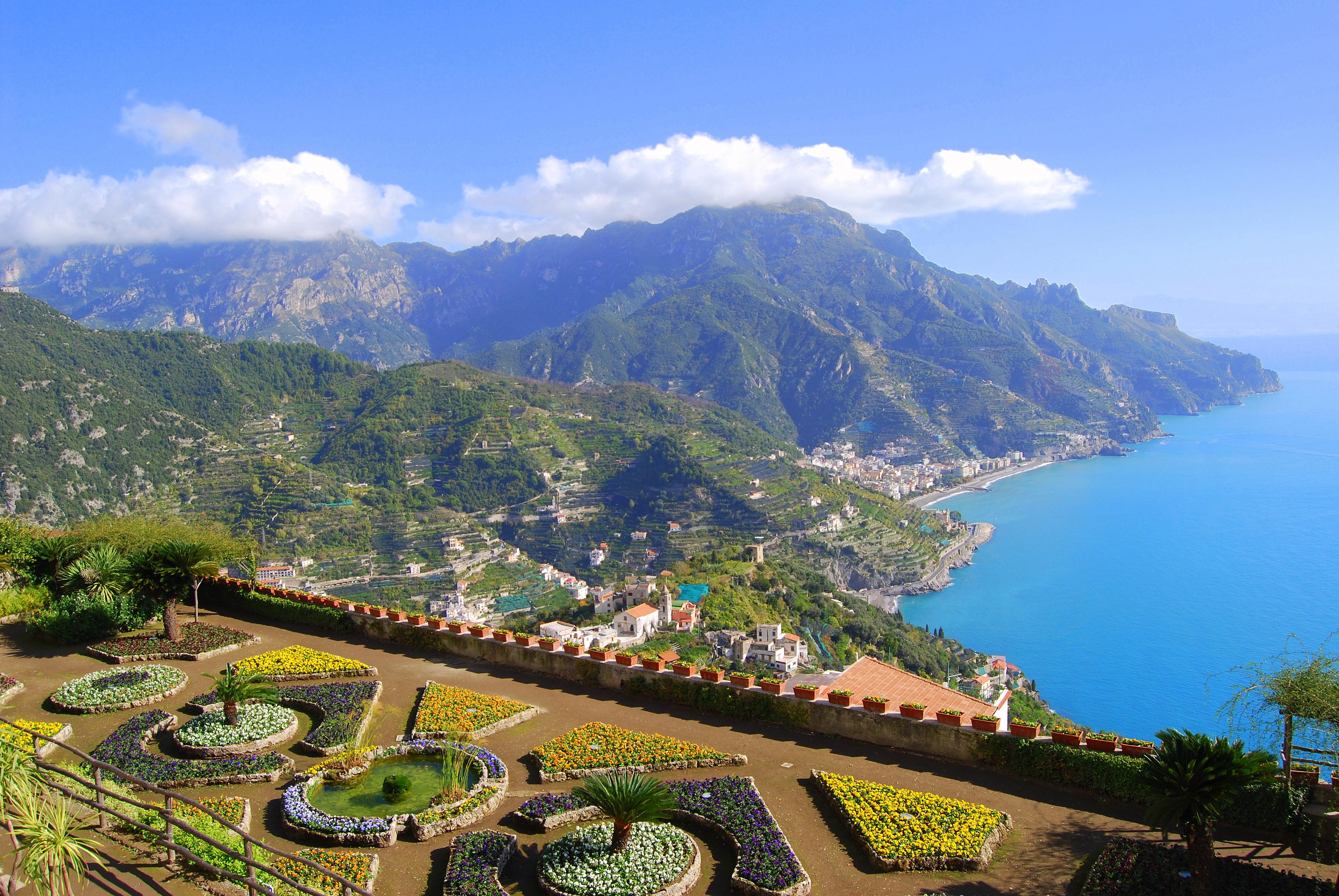 Amalfi coast ravello between sky and sea italia by for Italia amalfi