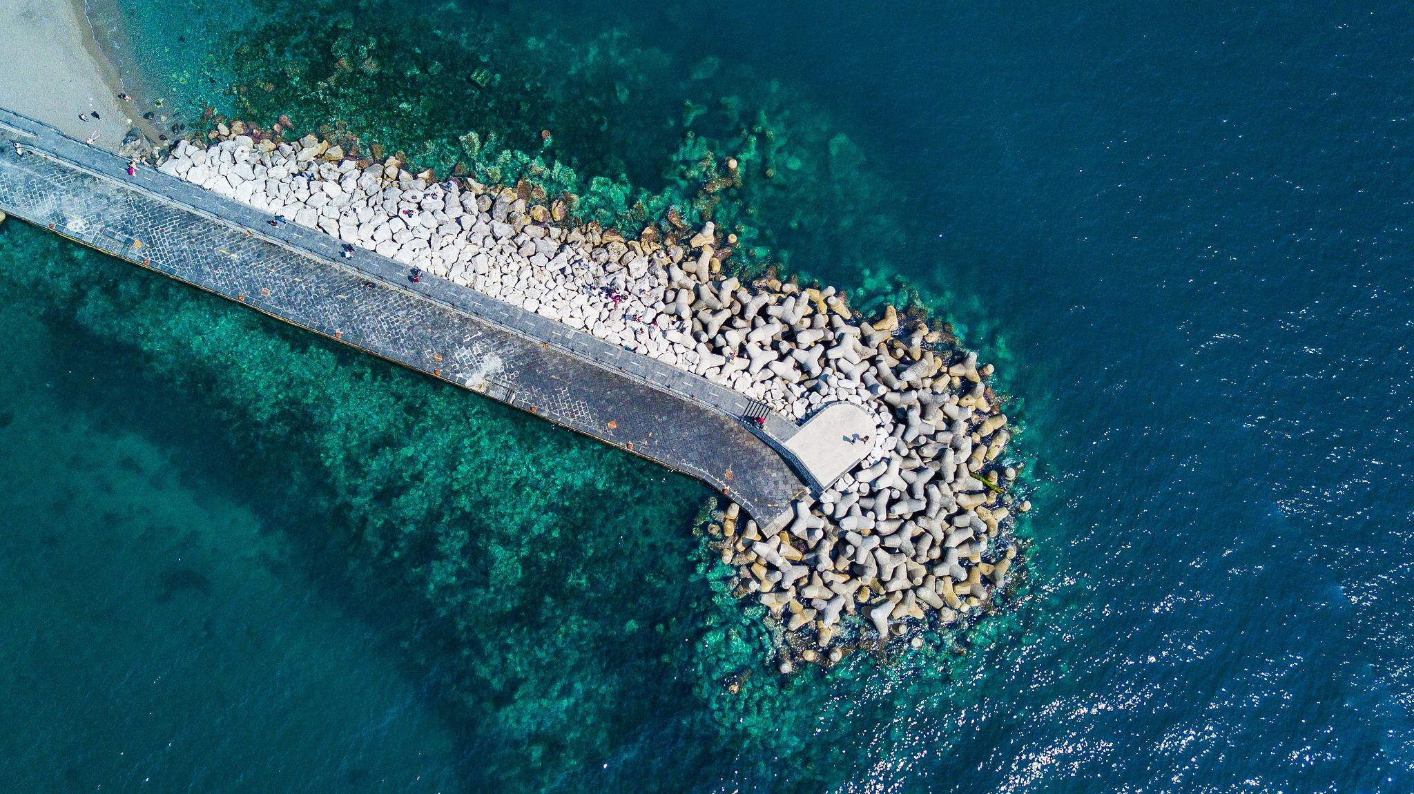 Wybrzeże Amalfi z lotu ptaka