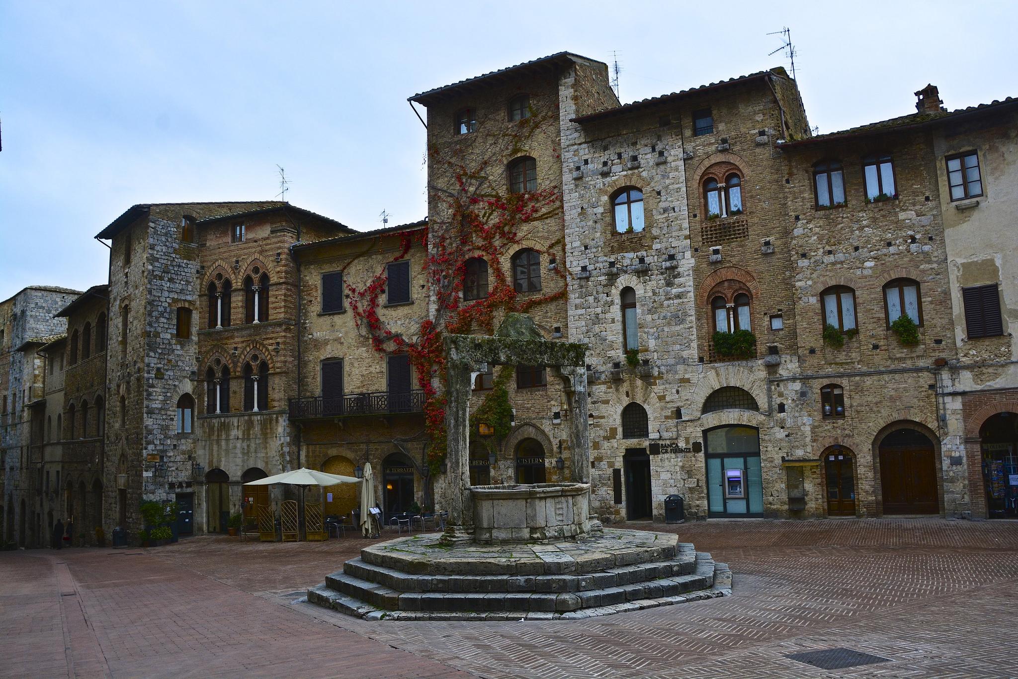 wlochy jesienią San Gimignano jesień autumn