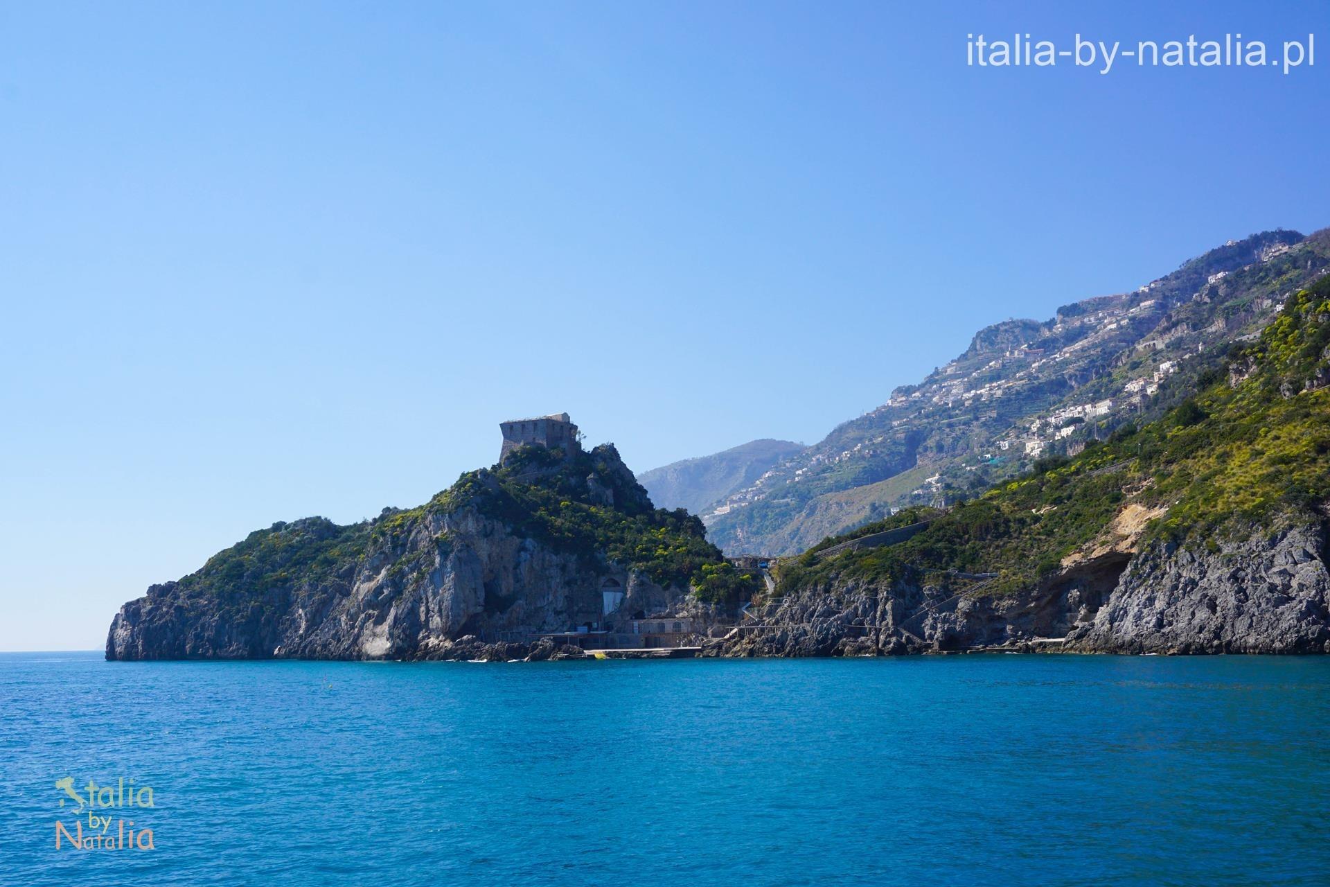 Wybrzeże Amalfi od strony morza