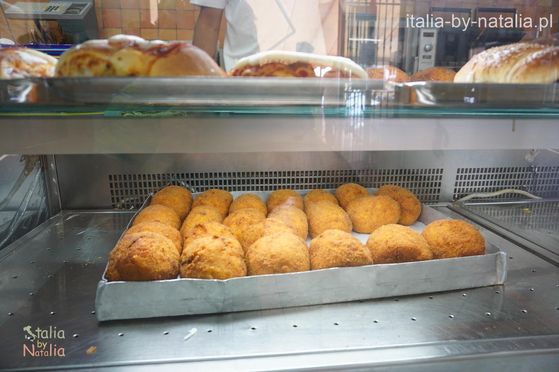 Arancini w Mondello koło Palermo