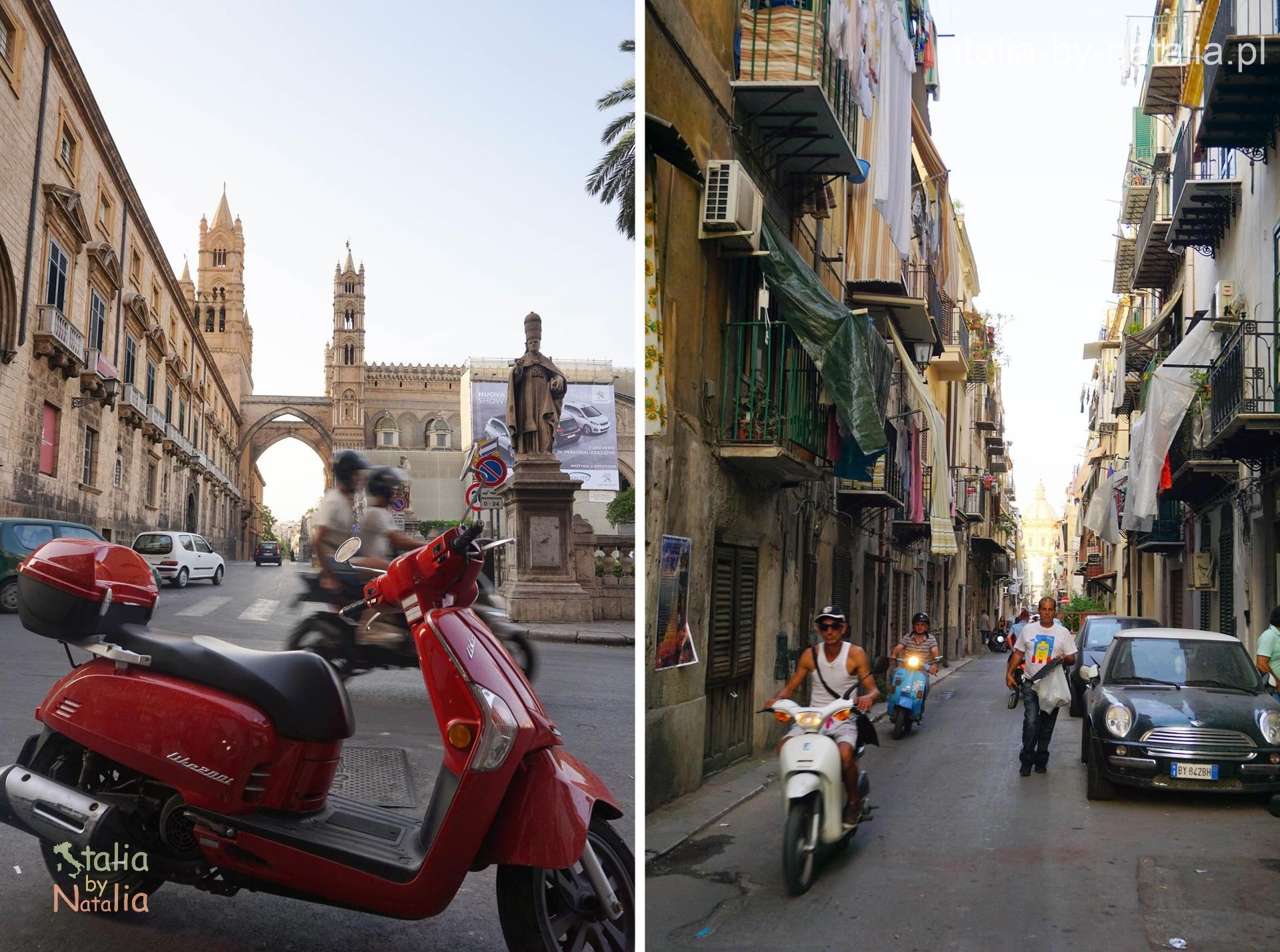 skutery na ulicach PAlermo