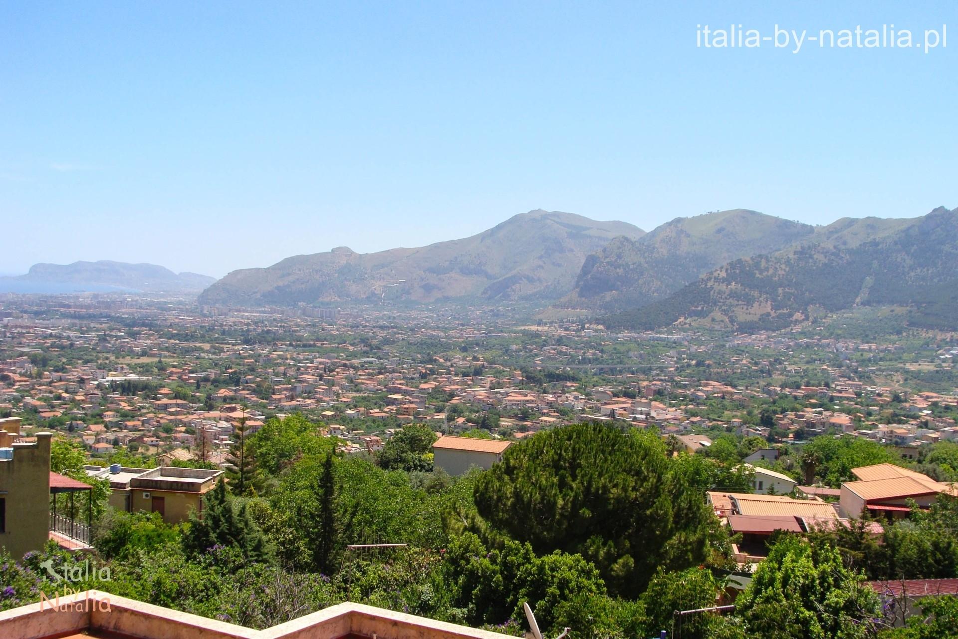 Palermo widziane z Monreale Conca d'Oro