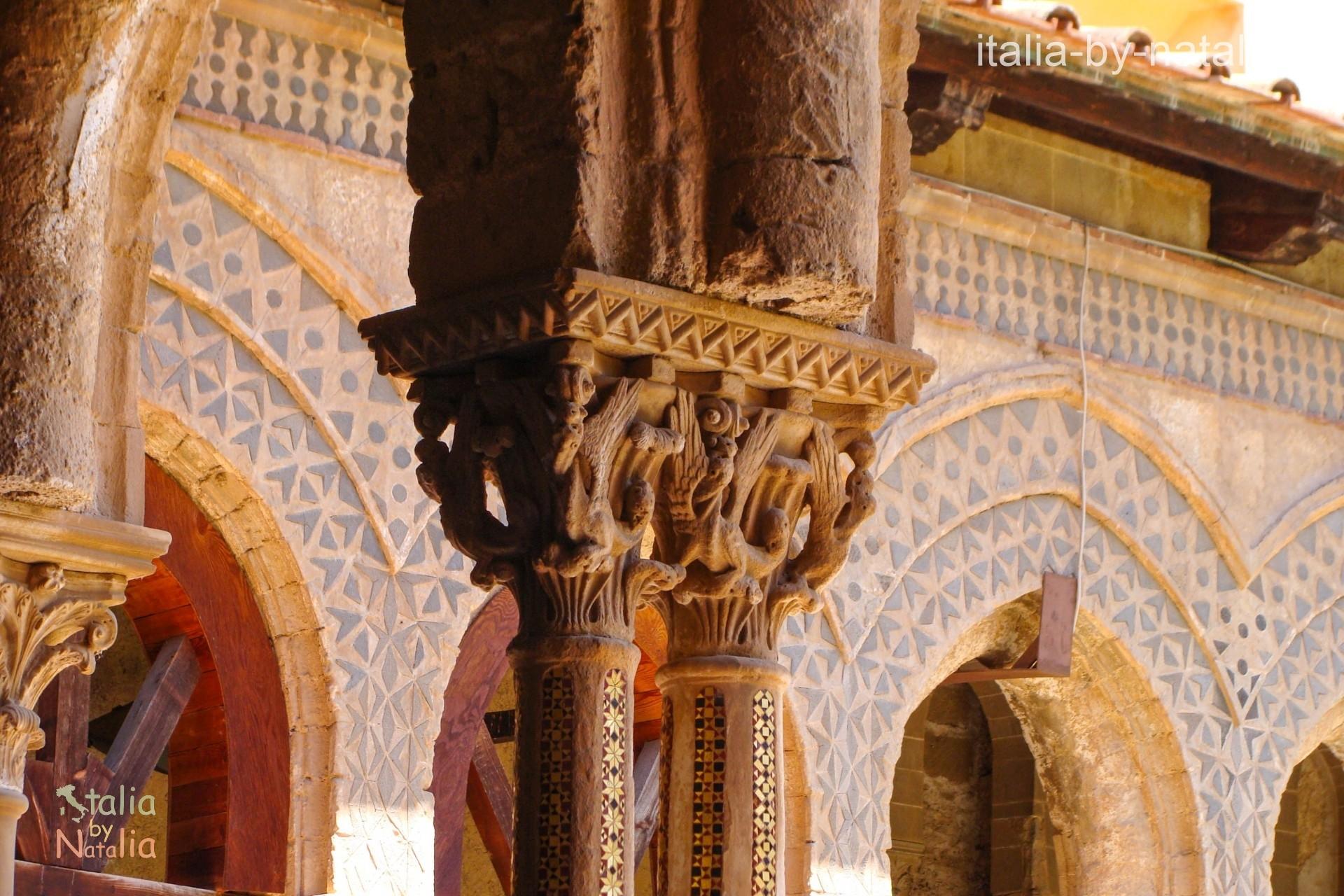 Krużganki w Monreale Palermo Sycylia spowiedź michael corleone ojciec chrzestny