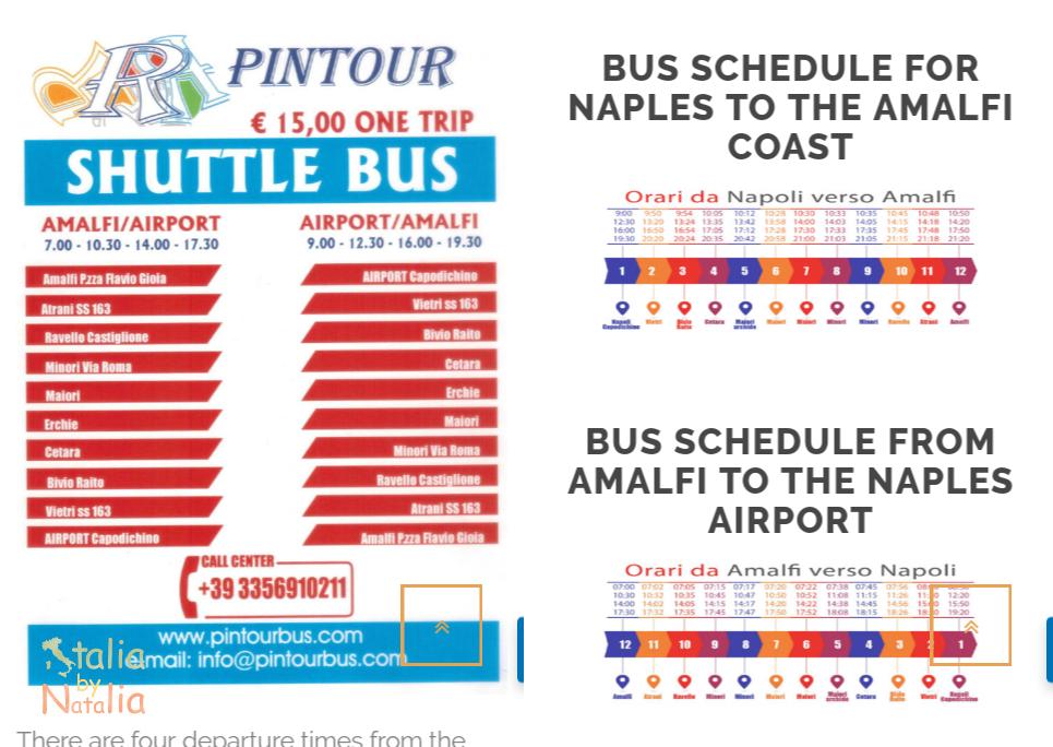 Rozkład jazdy autobus lotnisko Neapol - Wybrzeże Amalfi