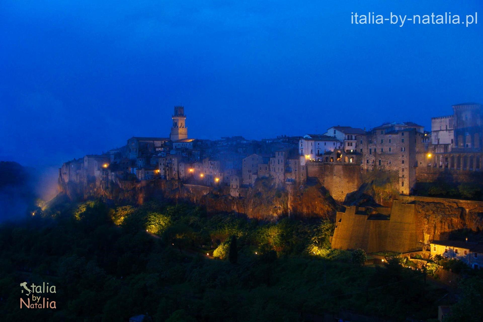 Pitigliano Toskania Maremma widok panorama