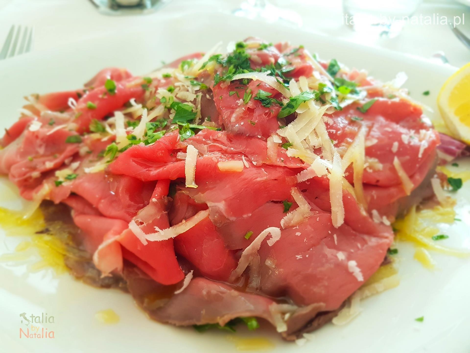 Ristorante Hotel Olivio carne salada gdzie zjeść nad Jeziorem Garda