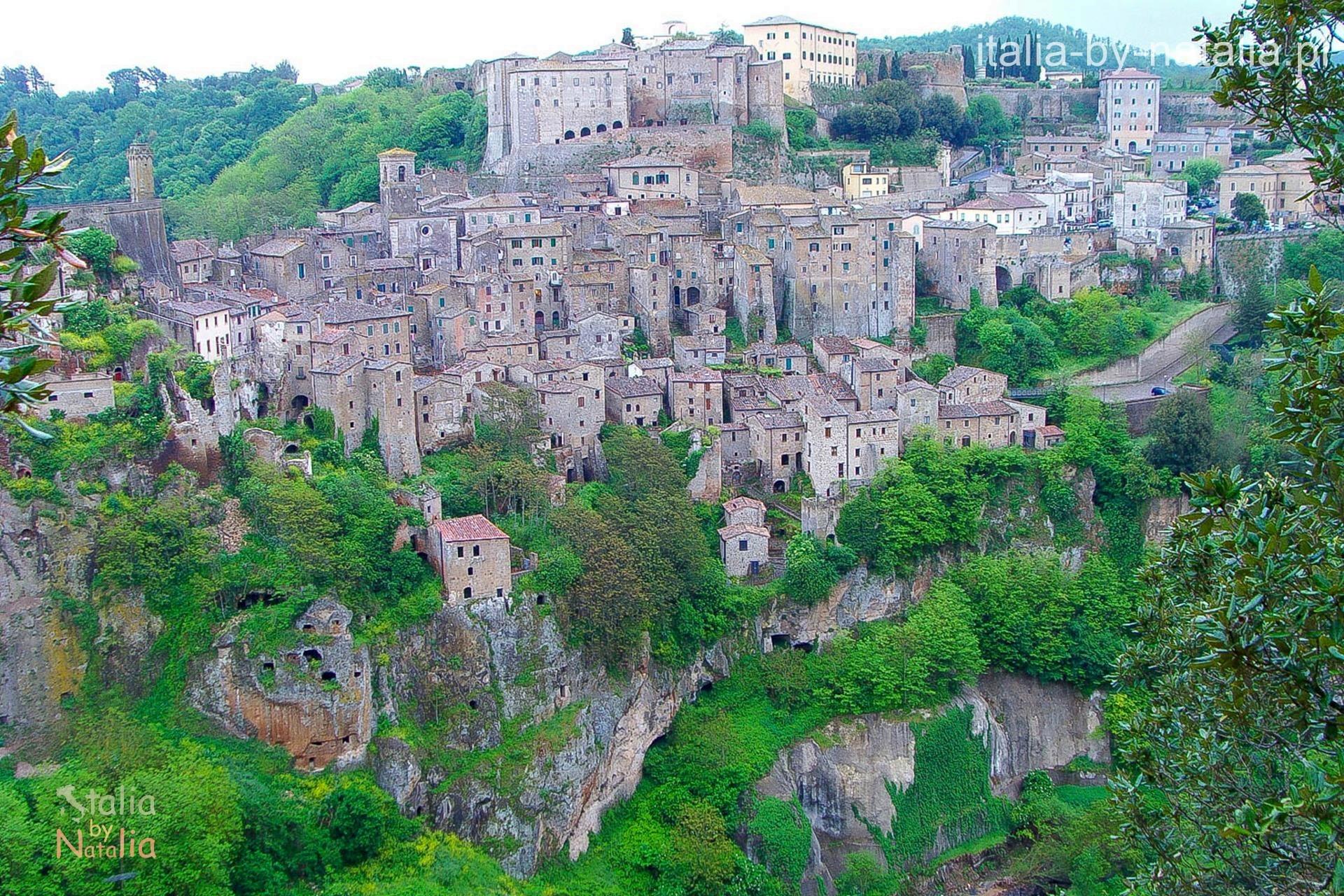 Sorano Toskania Maremma panorama widok