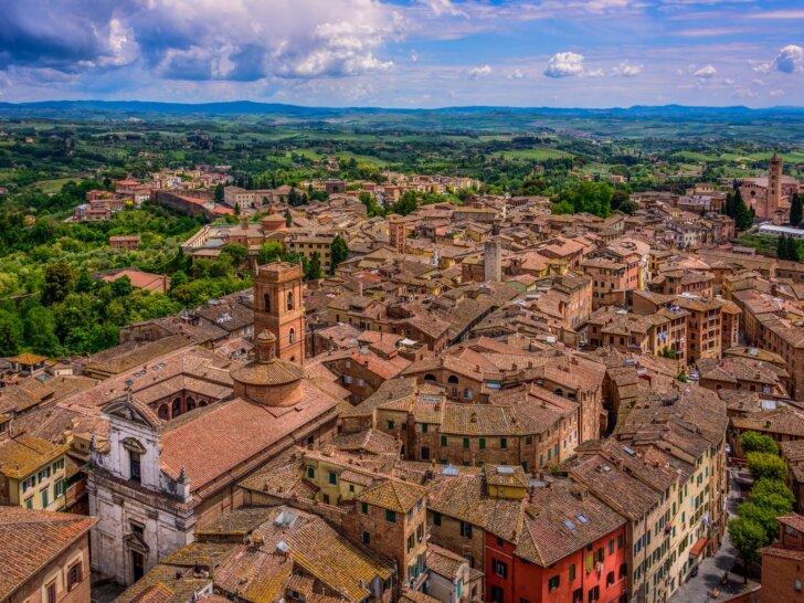 Siena Piazza del Campo Torre Mangia