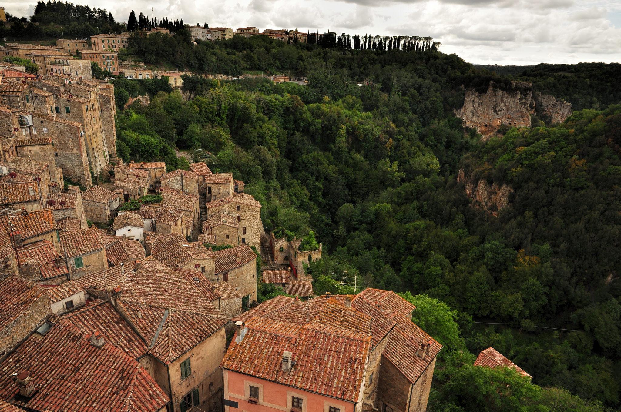 Sorano Toskania Maremma panorama widok Masso Leopoldino