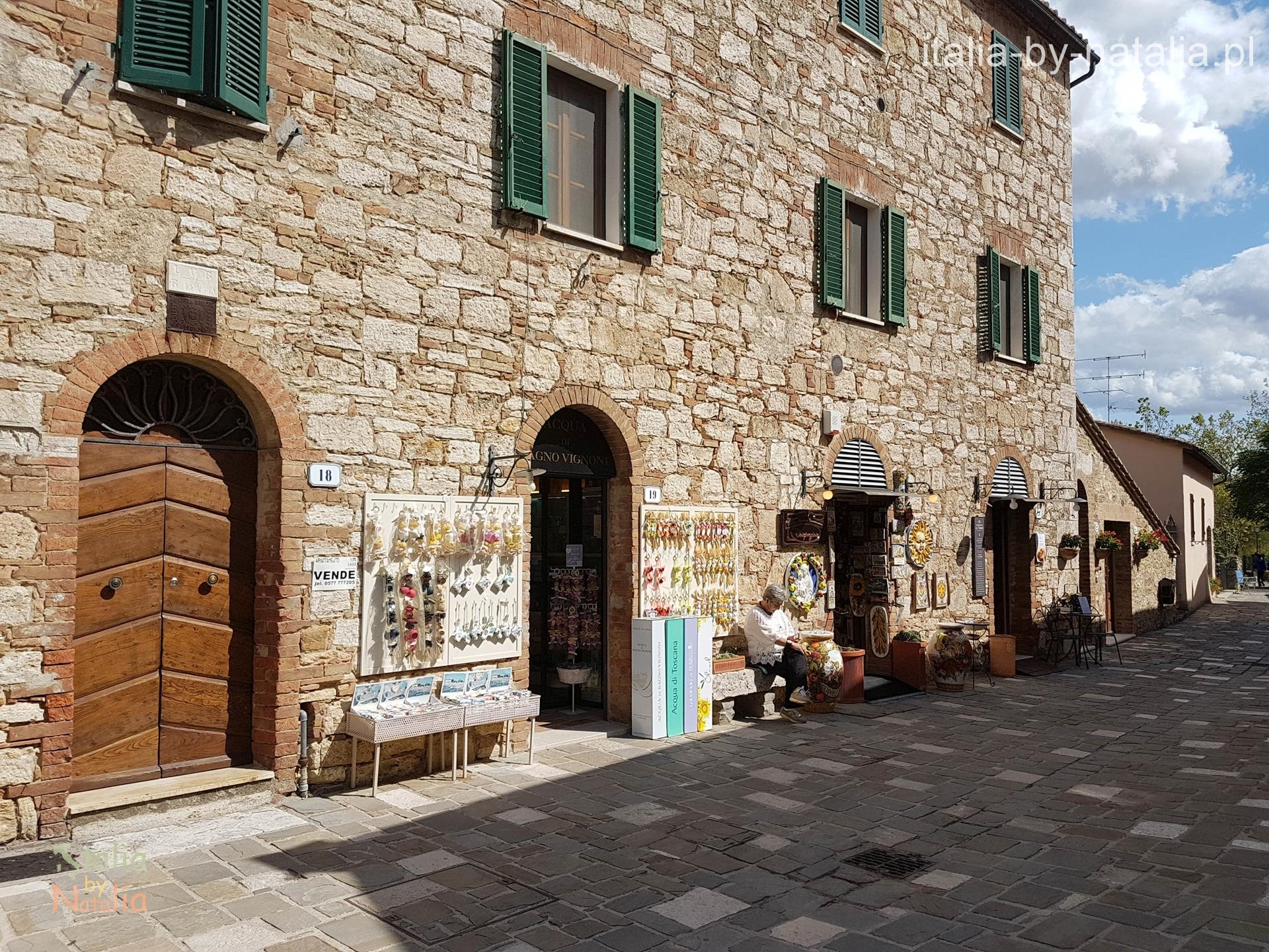 termy w toskanii bagno vignoni Toskania Val d'Orcia Tuscany