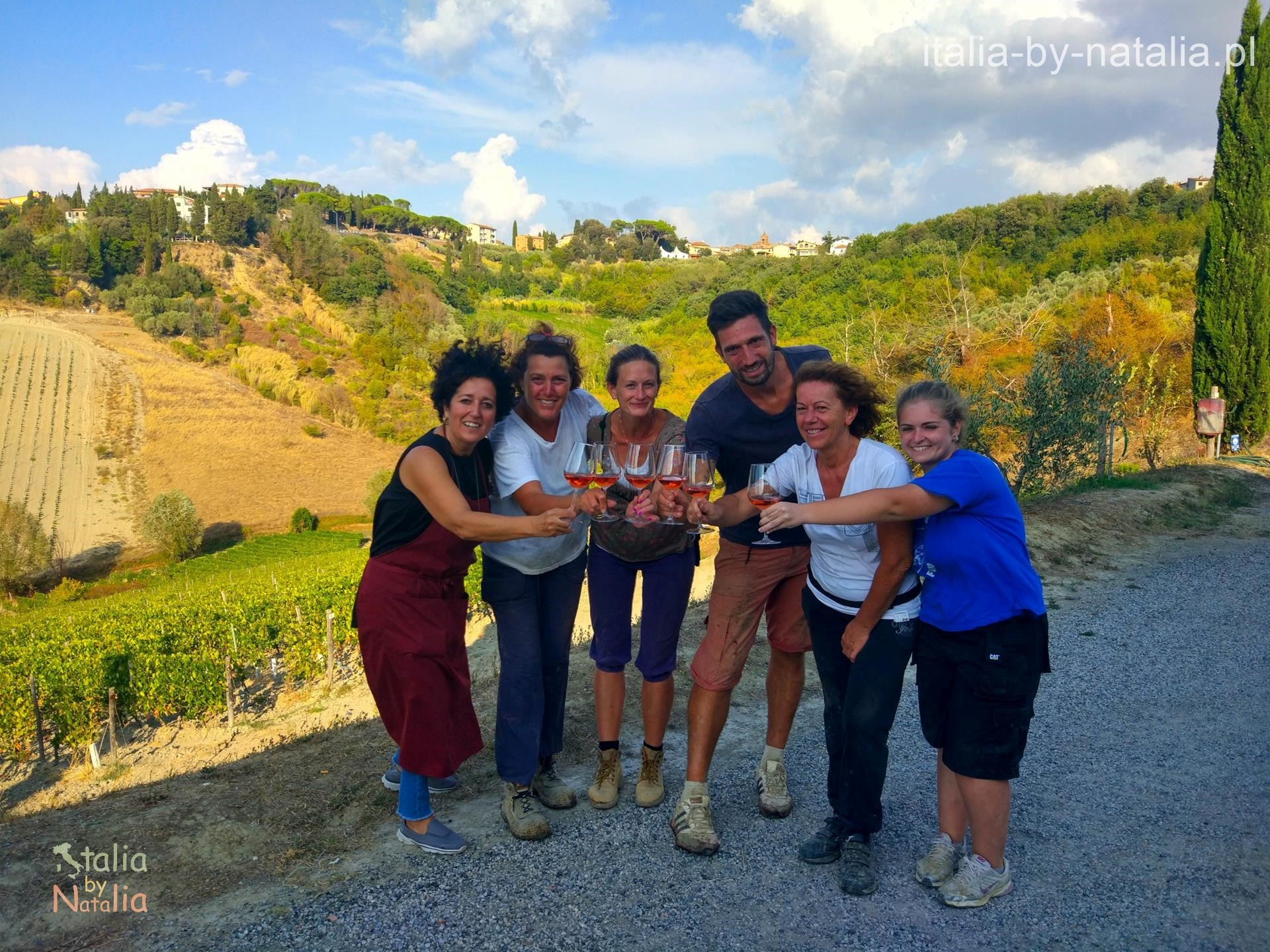 castelvecchio winnica winobranie Toskania jesienią