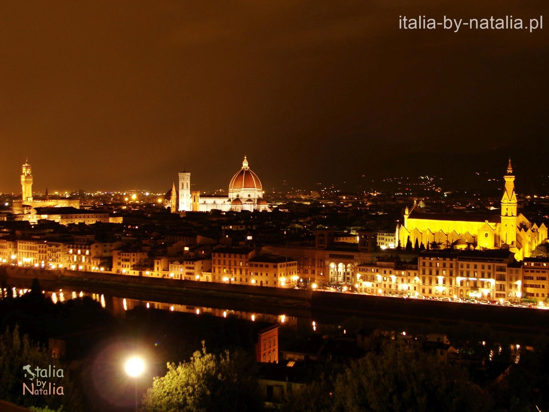 Florencja Piazzale Michaelangelo panorama punkt widokowy