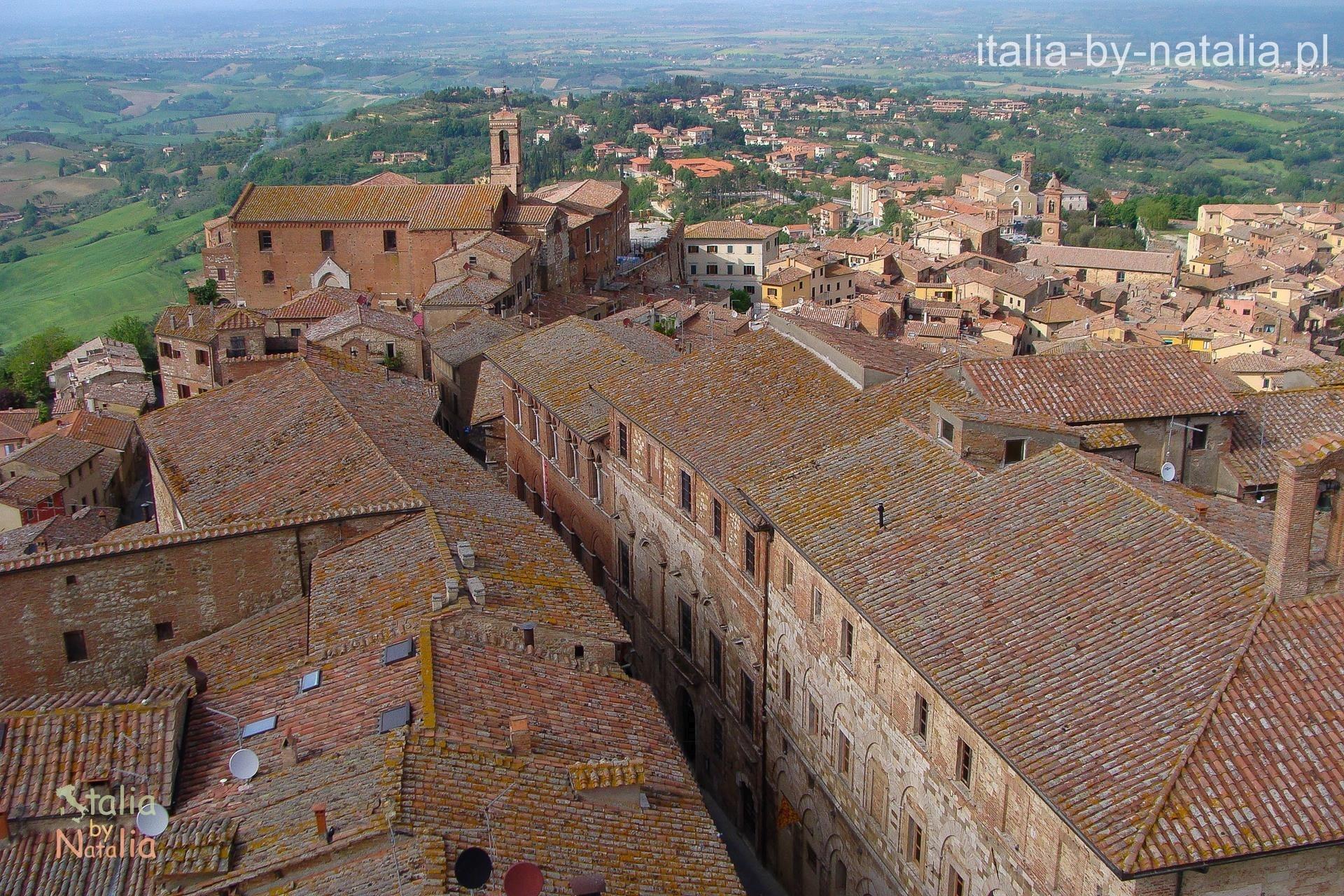 Montepulciano Toskania Torre del Pulcinella widok