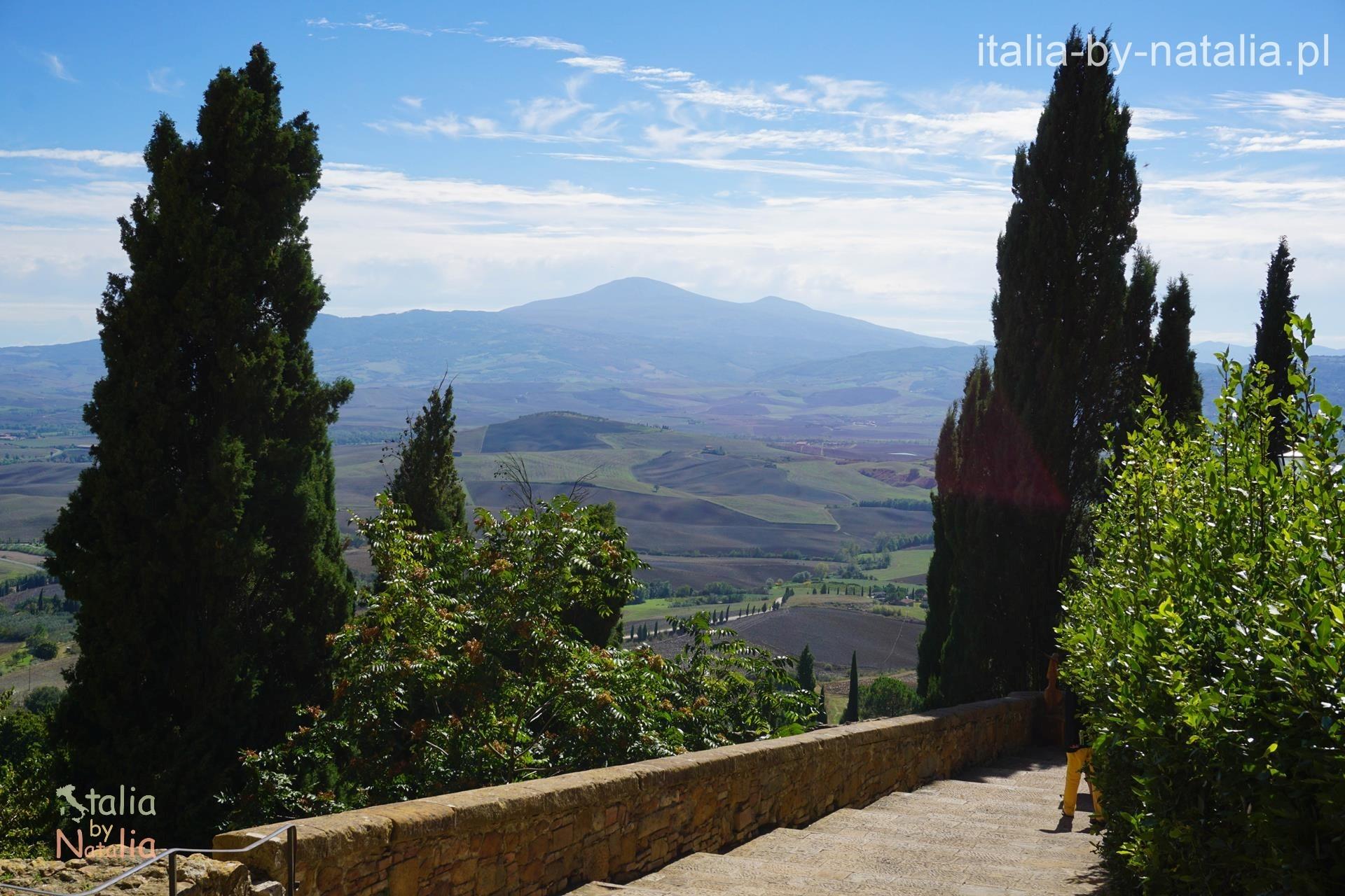 Pienza Toskania widok panorama Terrapille via dell amore droga miłości