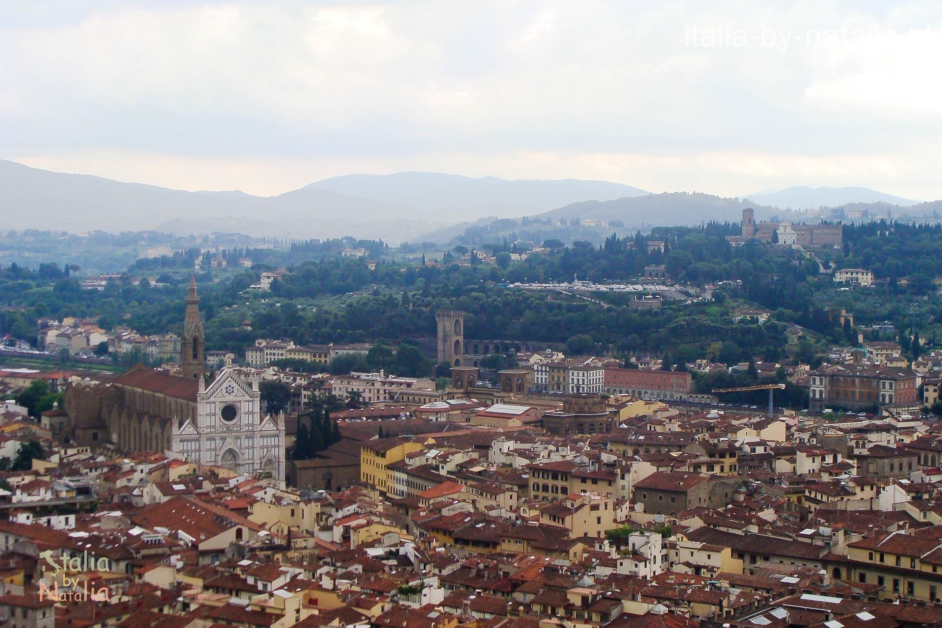 Florencja Katedra widok punkt widokowy panorama Santa Croce