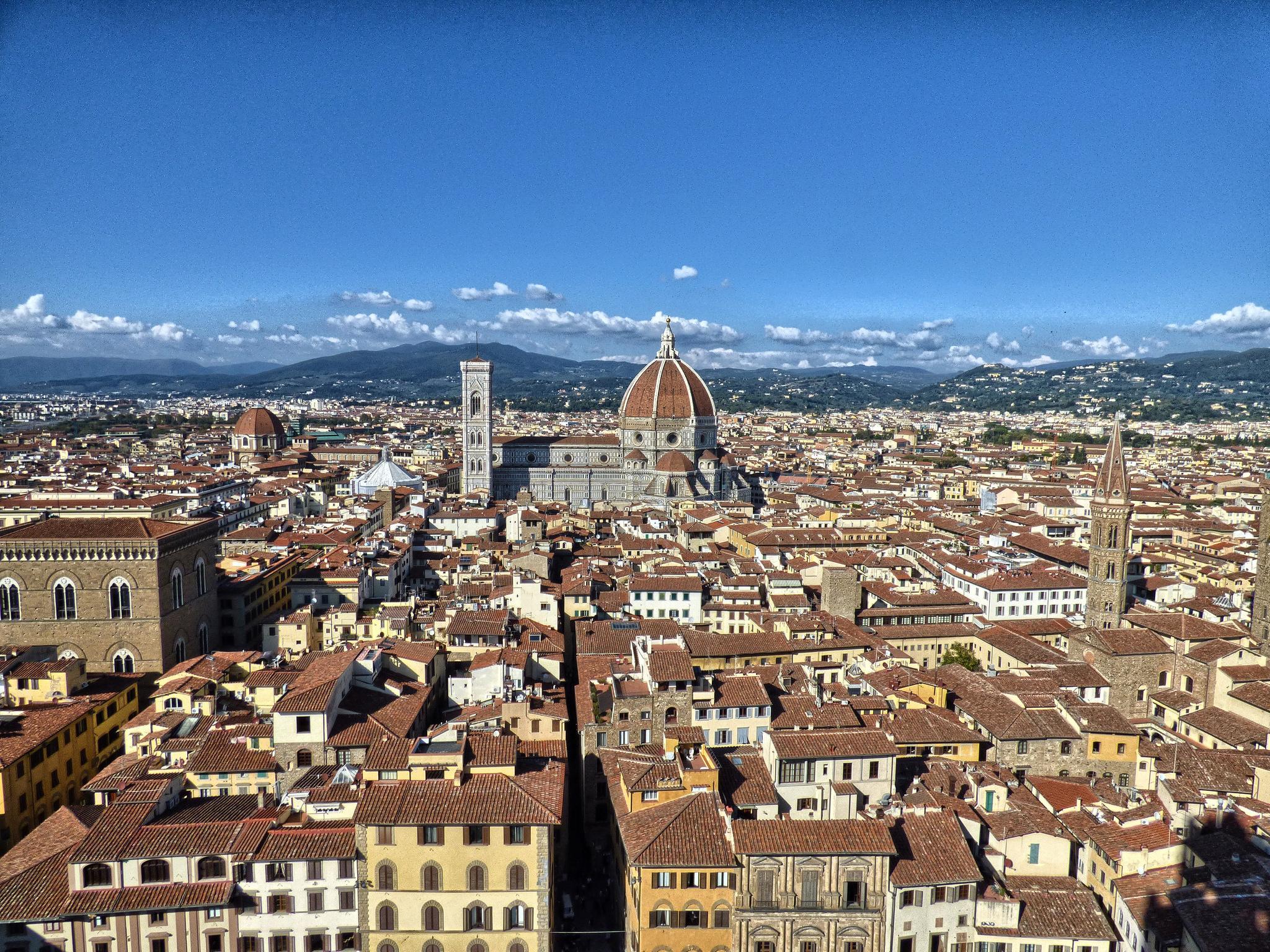 Florencja Katedra widok punkt widokowy panorama Palazzo Vecchio