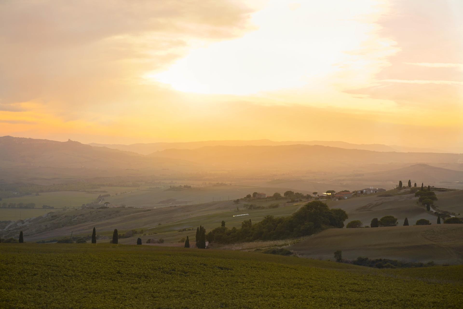Val di Orcia jesień Toskania jesienią