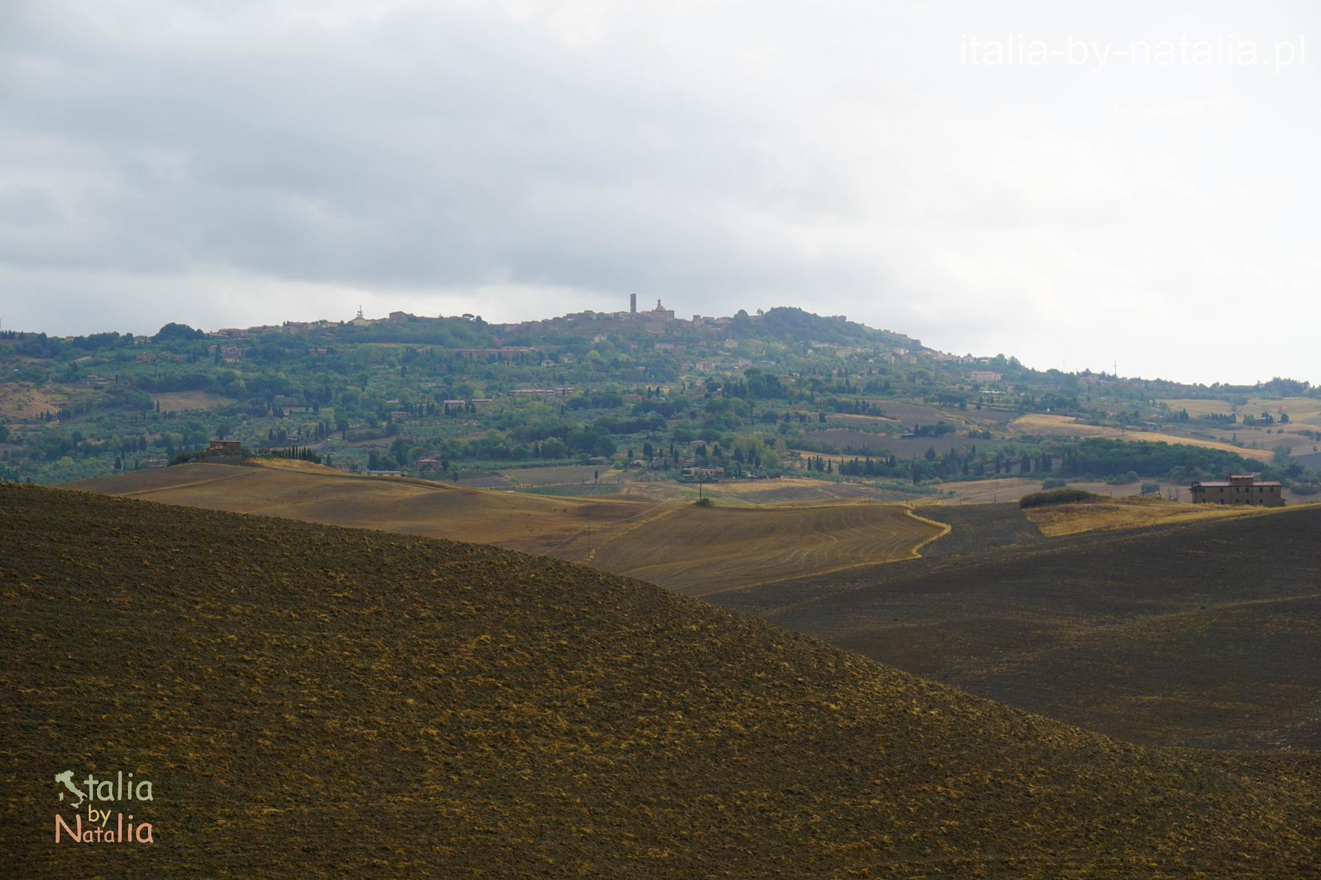 Volterra punkt widokowy panorama Toskania jesienią, Tuscany in the autumn