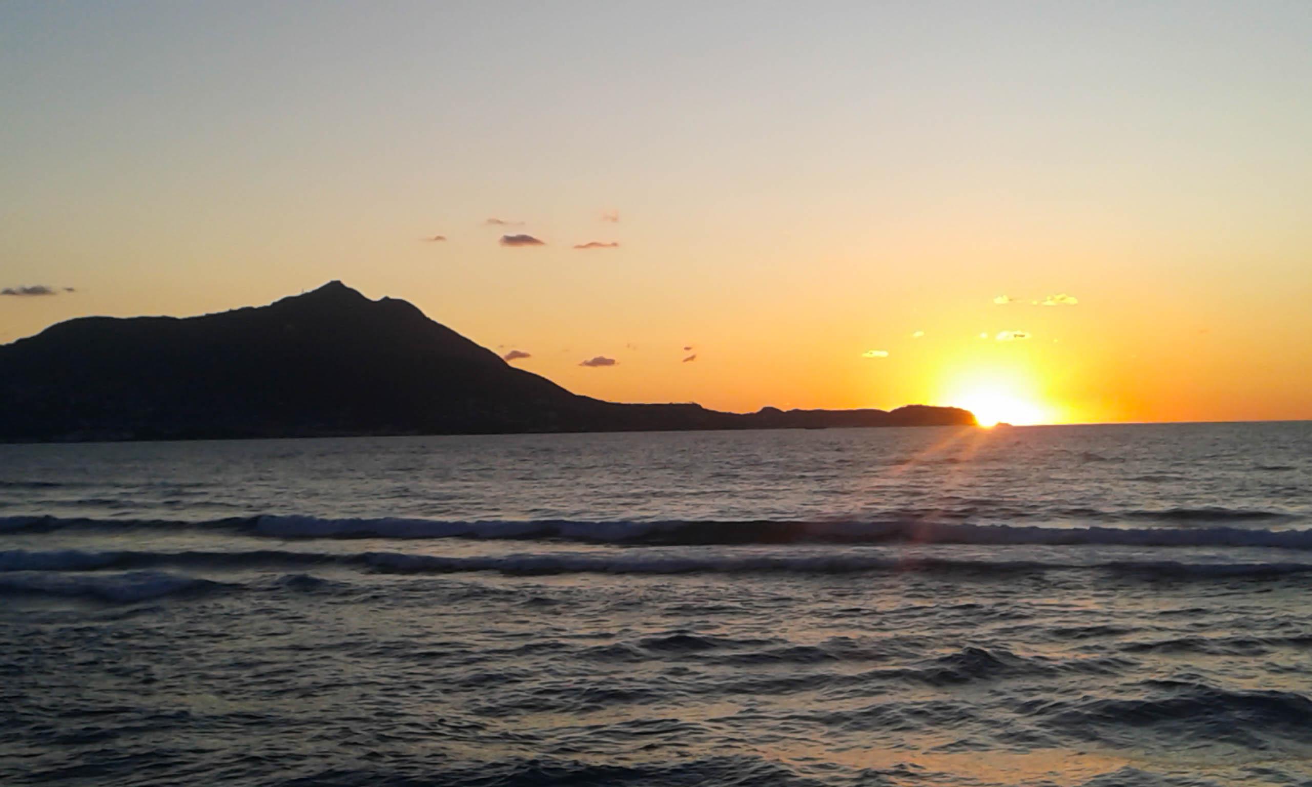 Procida zachód słońca