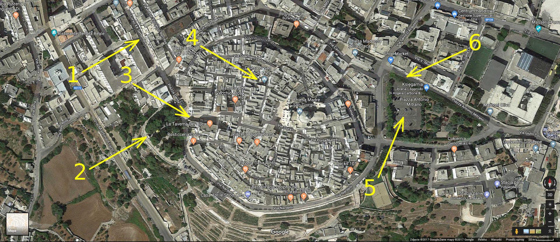 Locorotondo Apulia mapa