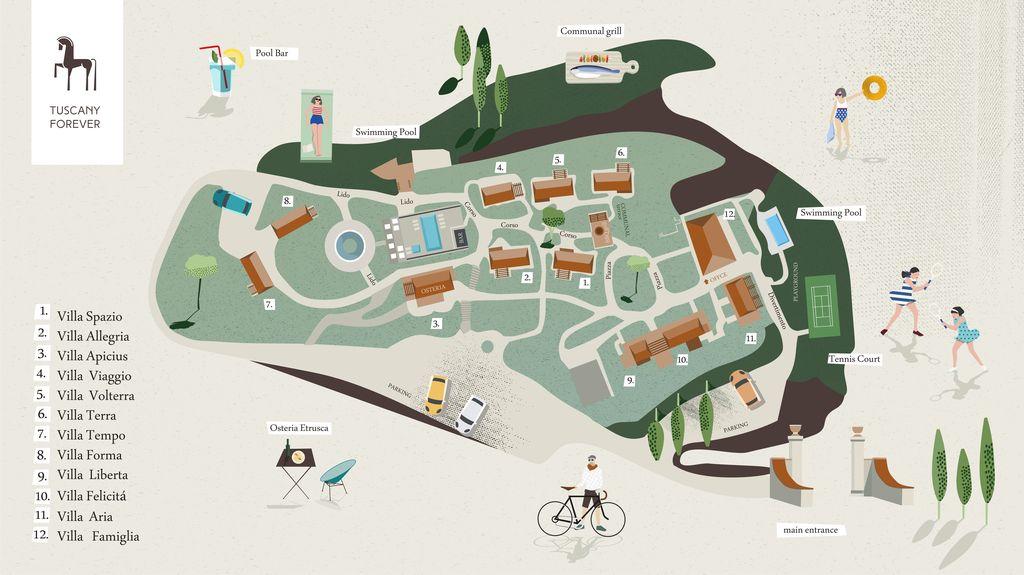 Tuscany Forever Volterra mapa