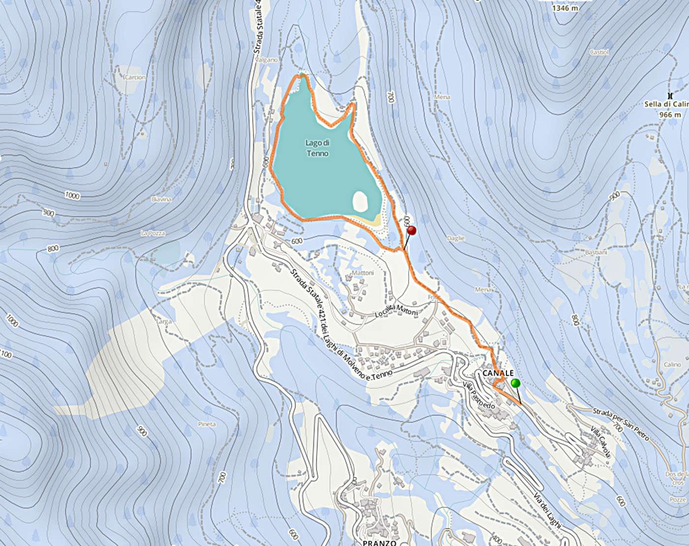 Canale szlak jezioro tenno spacer Canale Tenno Varone