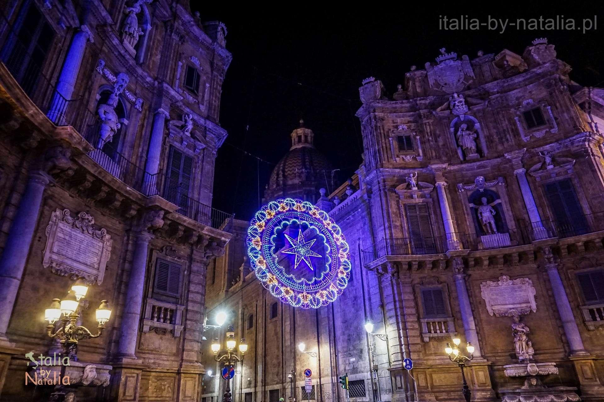 Palermo Sycylia grudzien december christmas święta Quattro Canti