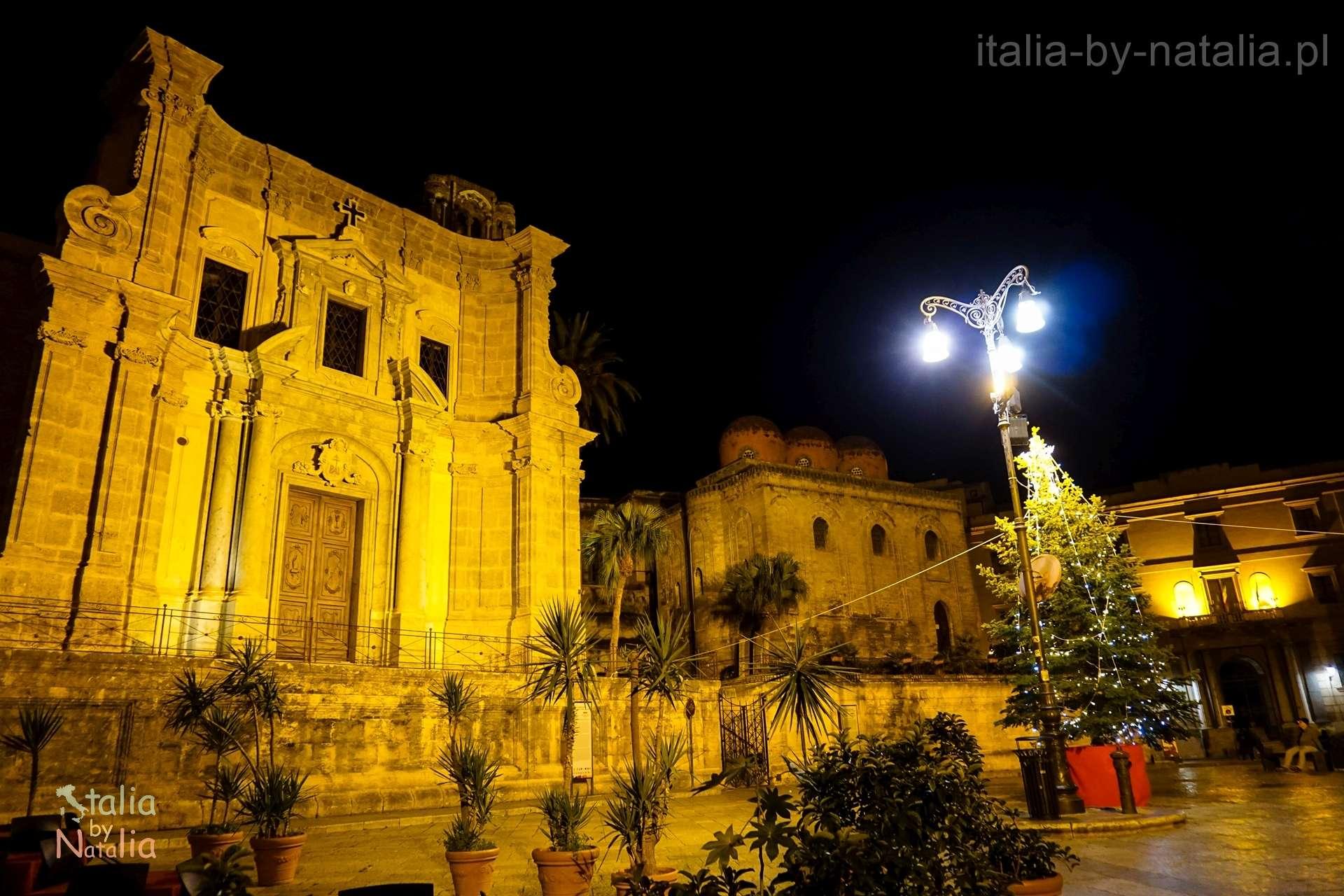 Palermo Sycylia grudzien december christmas święta Piazza Bellini