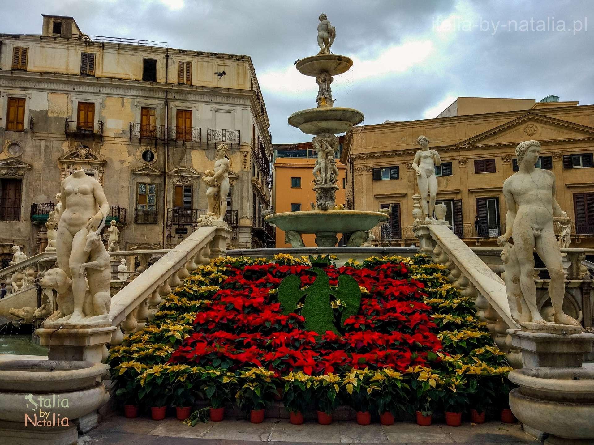 Palermo Sycylia grudzien december christmas święta Pretoria