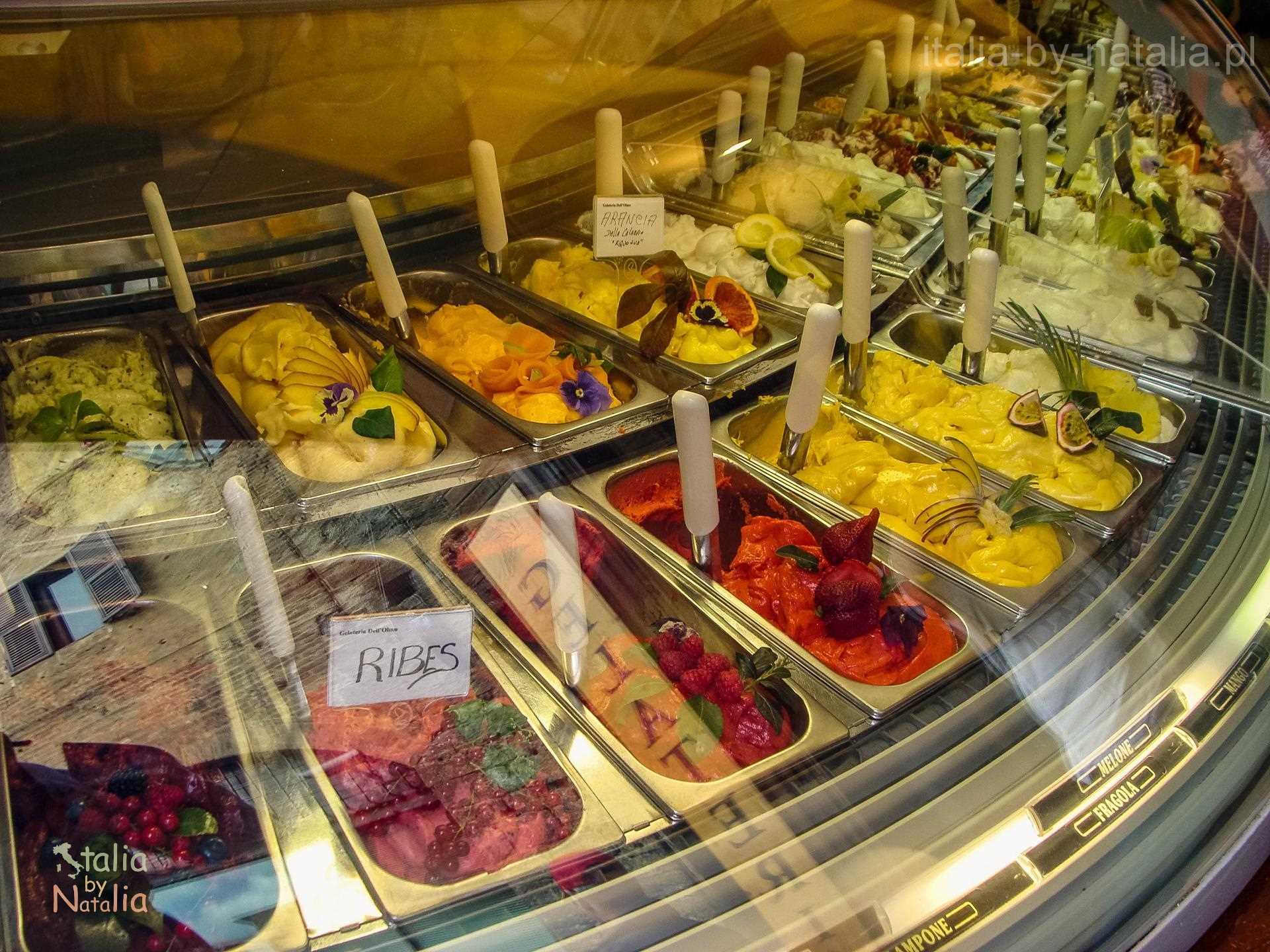 San Gimignano Toskania Tuscany lody