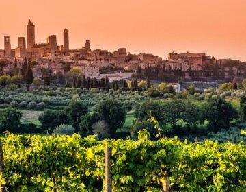 San Gimignano Toskania Tuscany panorama widok