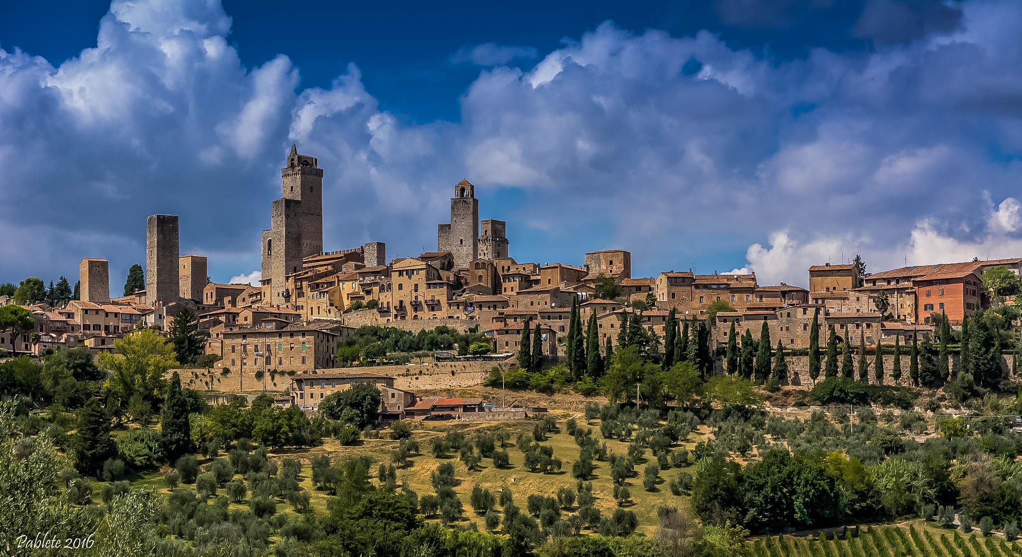 San Gimignano Toskania Tuscany widok panorama toskanski manhattan