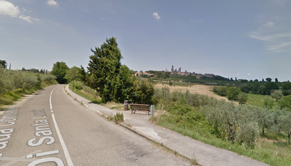 San Gimignano punkt widokowy panorama gdzie