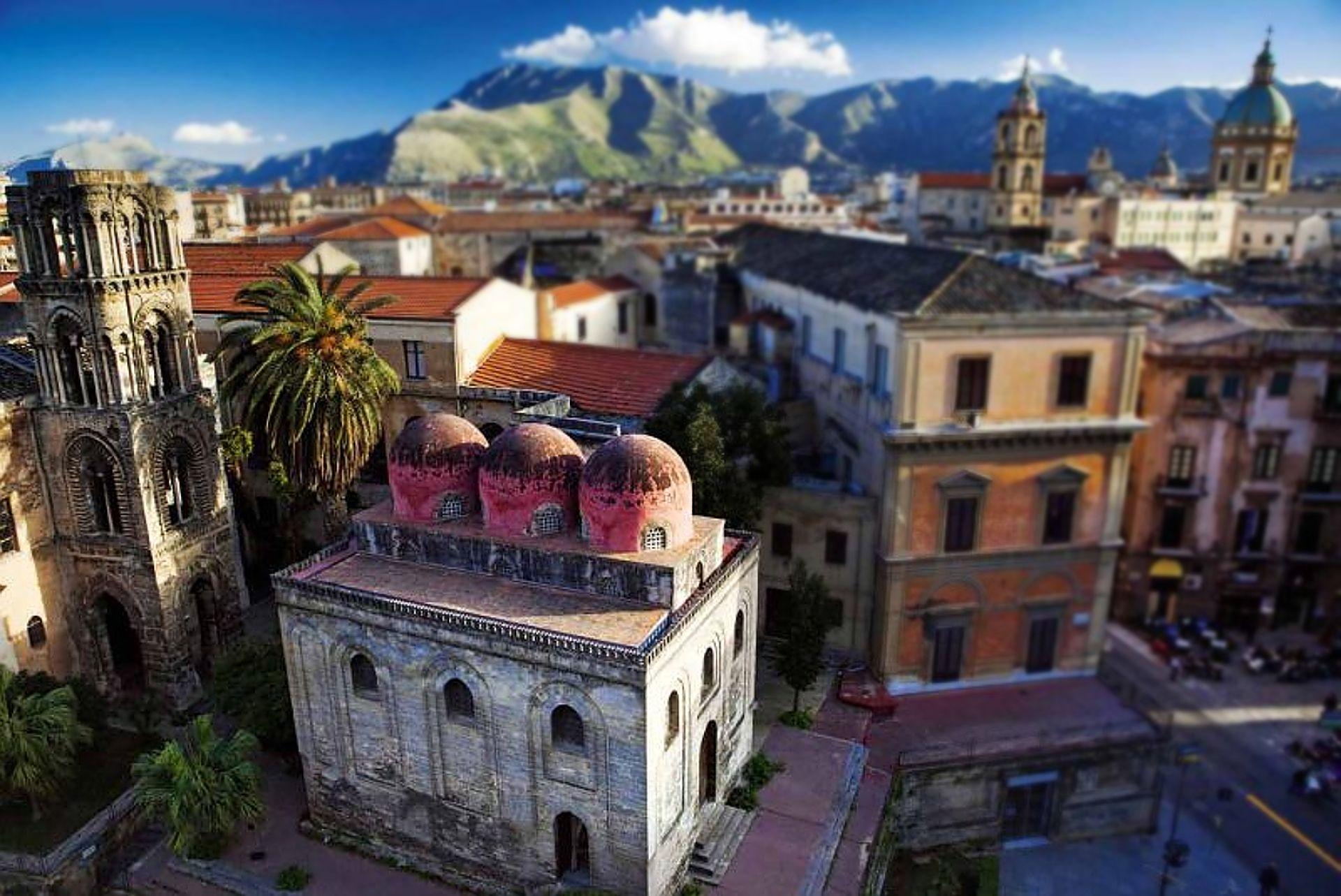 Palermo Sycylia Sicily view San Cataldo La Martorana