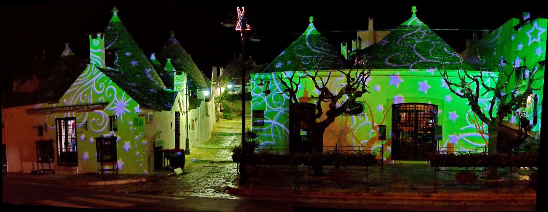 Alberobello Festiwal Światła grudzień Apulia