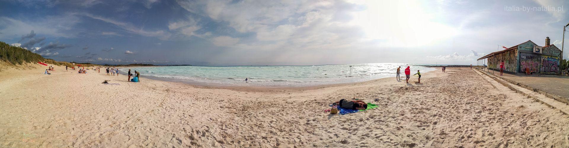 białe plaże Toskania Rosignano Solvay Vada