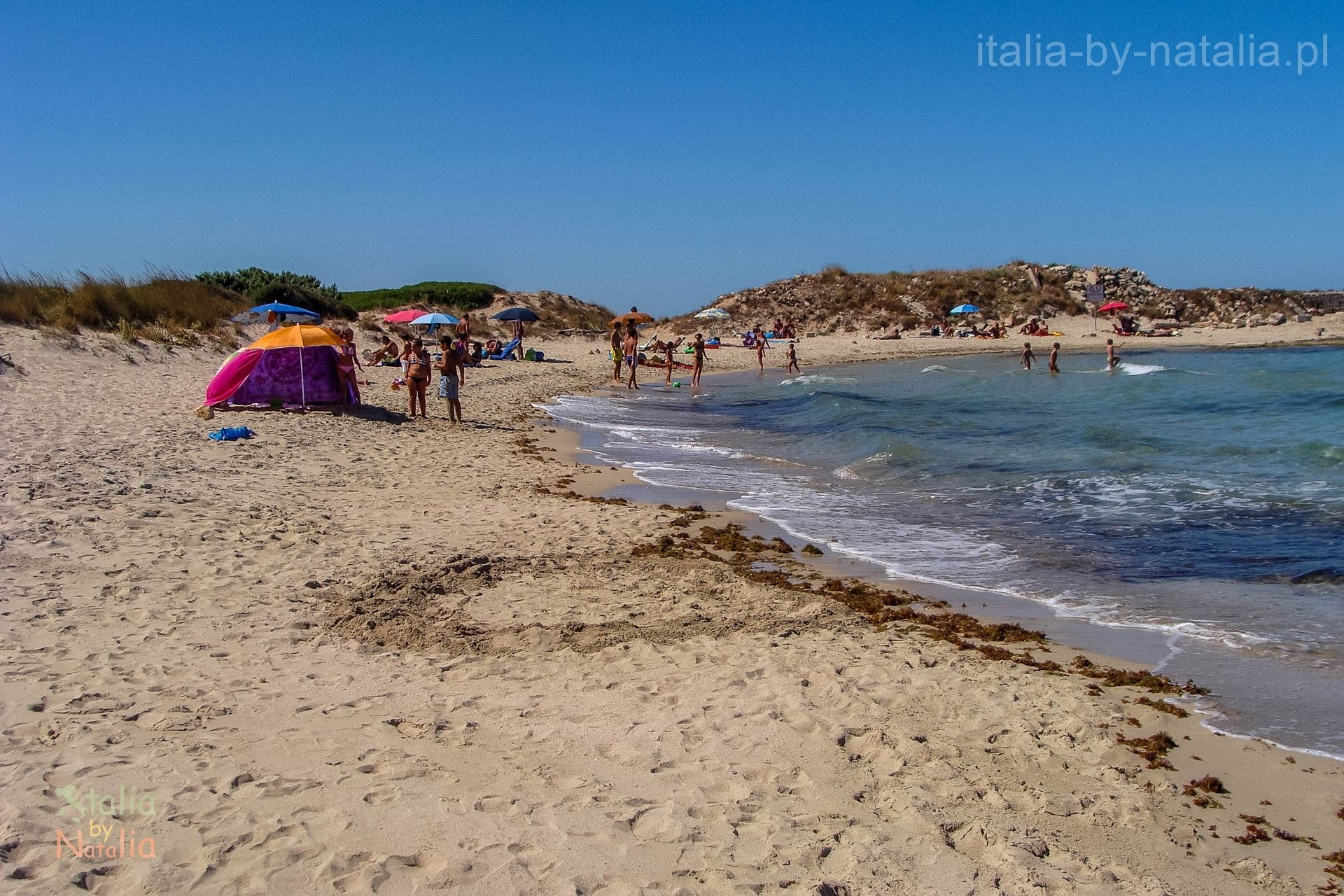 Torre Guaceto plaża Apulia wrzesień