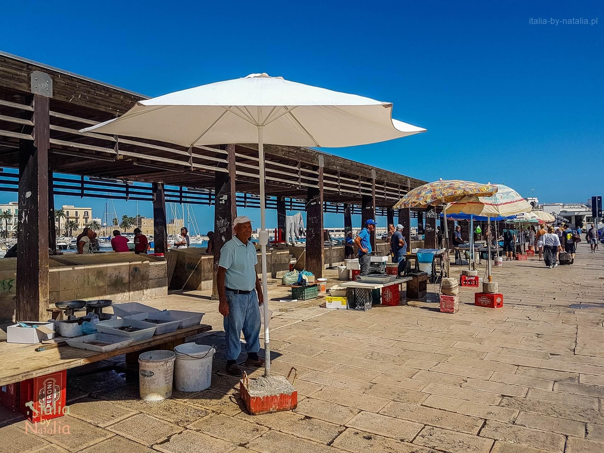 Bari Apulia zwiedzanie targ rybny zakupy