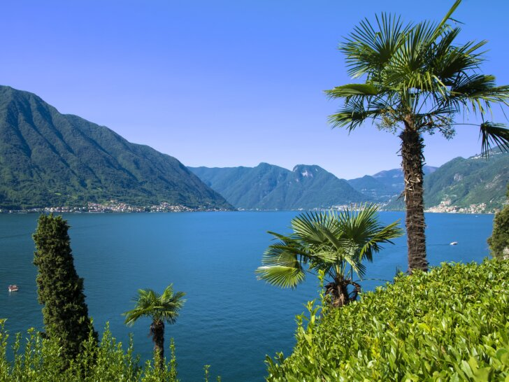 Jezioro Como panorama widok