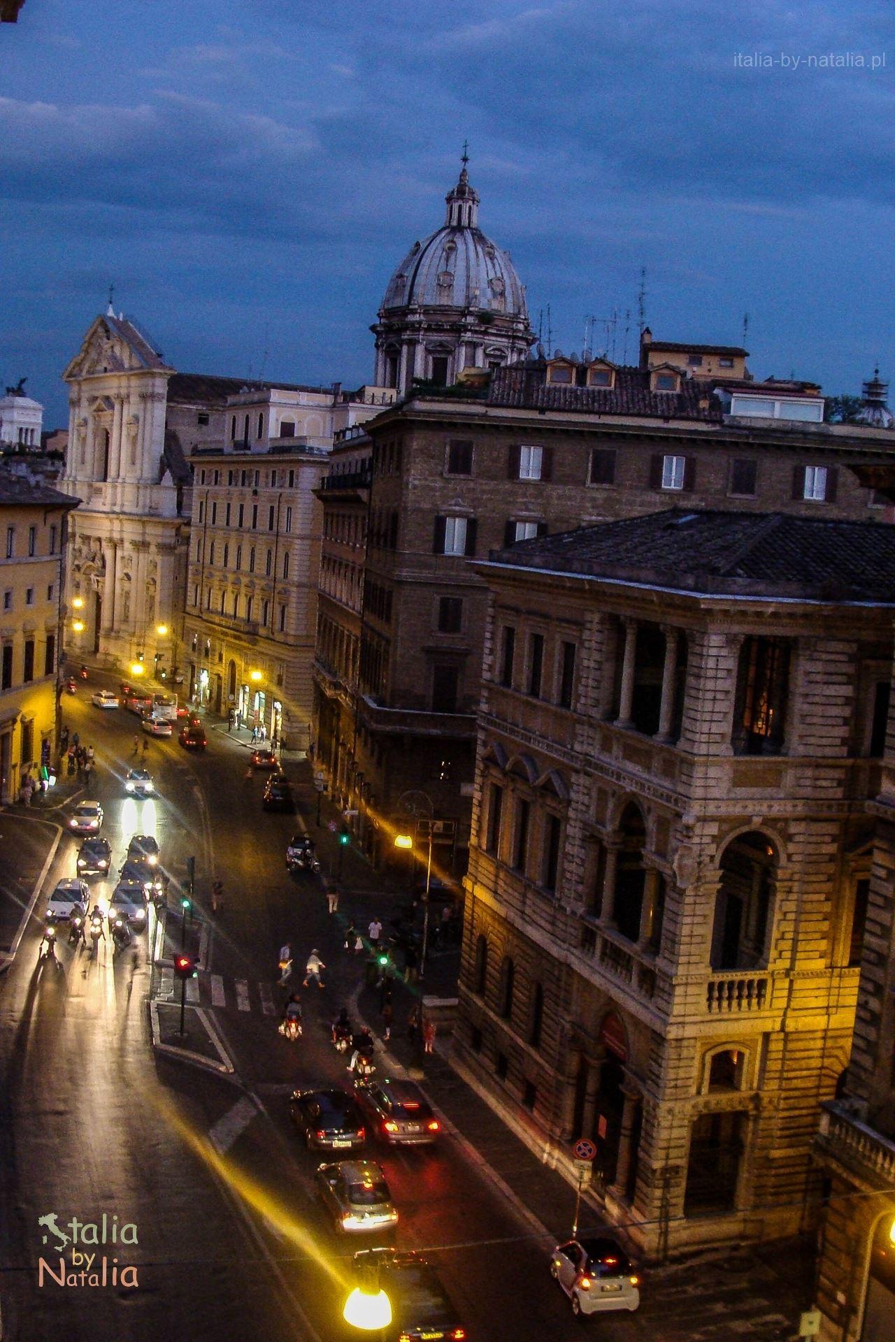 Rzym widok Corso Vittorio Emanuele II