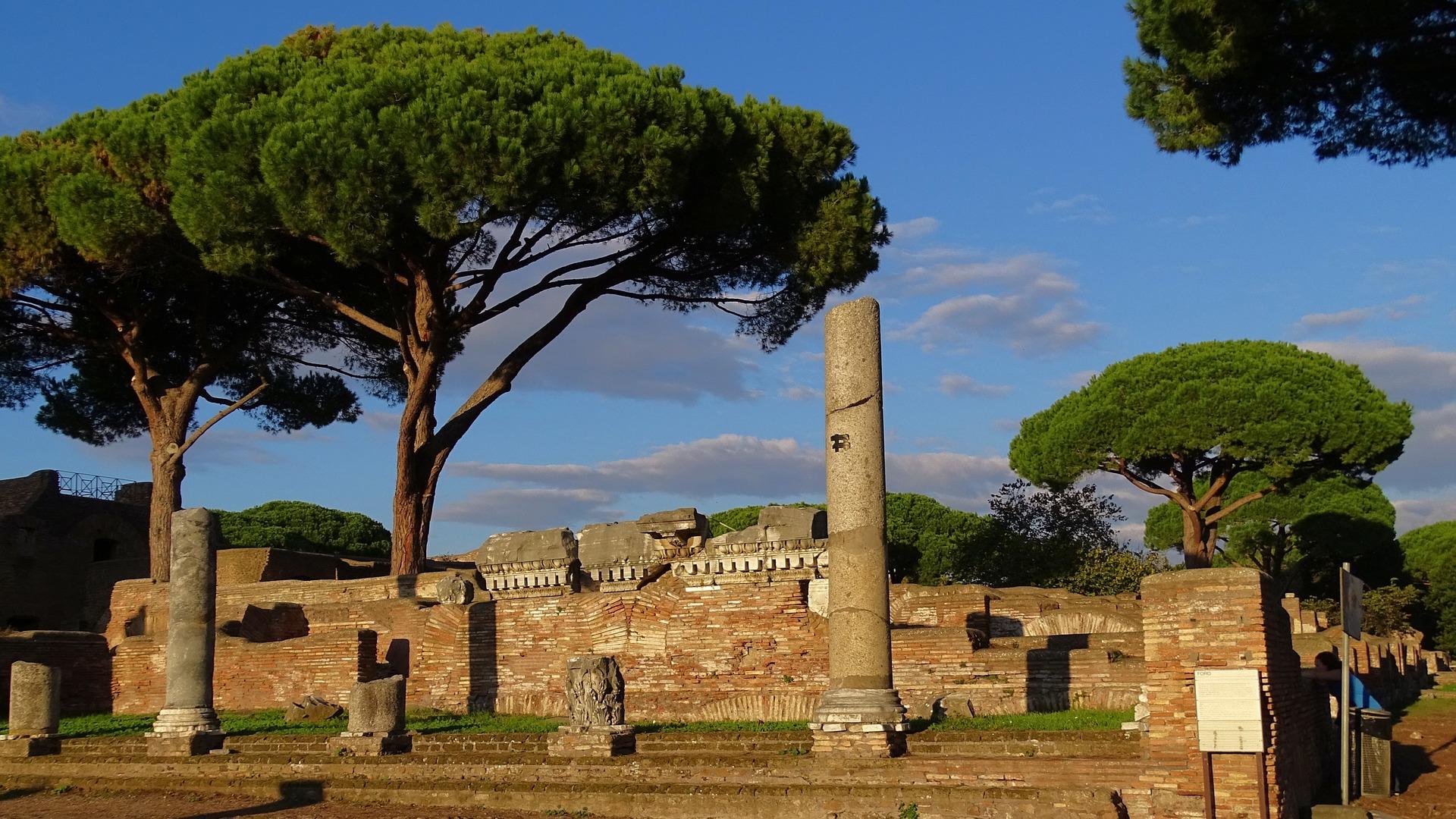 Rzymskie ruiny ostia