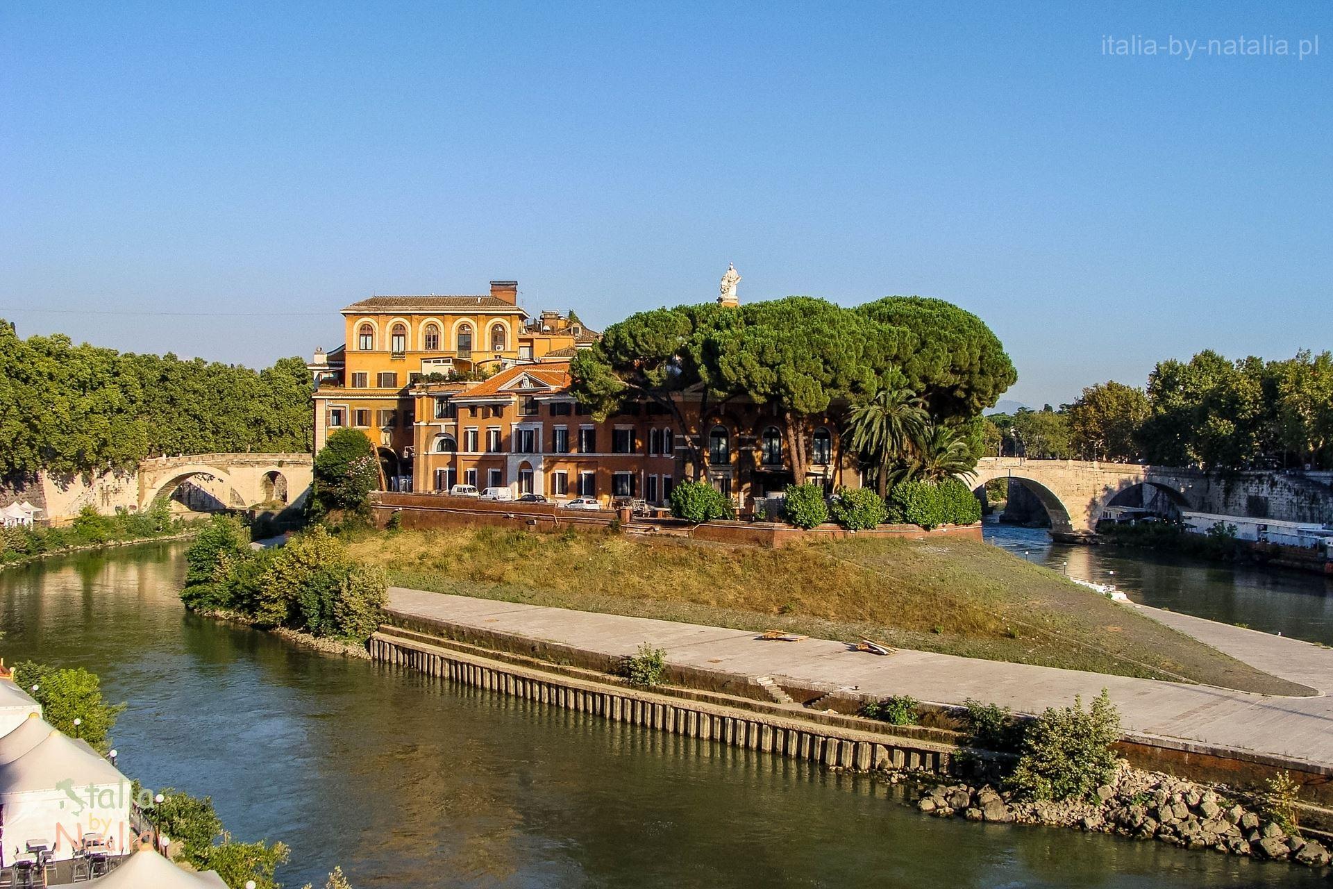 isola tiberina wyspa tyberysjka Rzym rome roma zwiedzanie