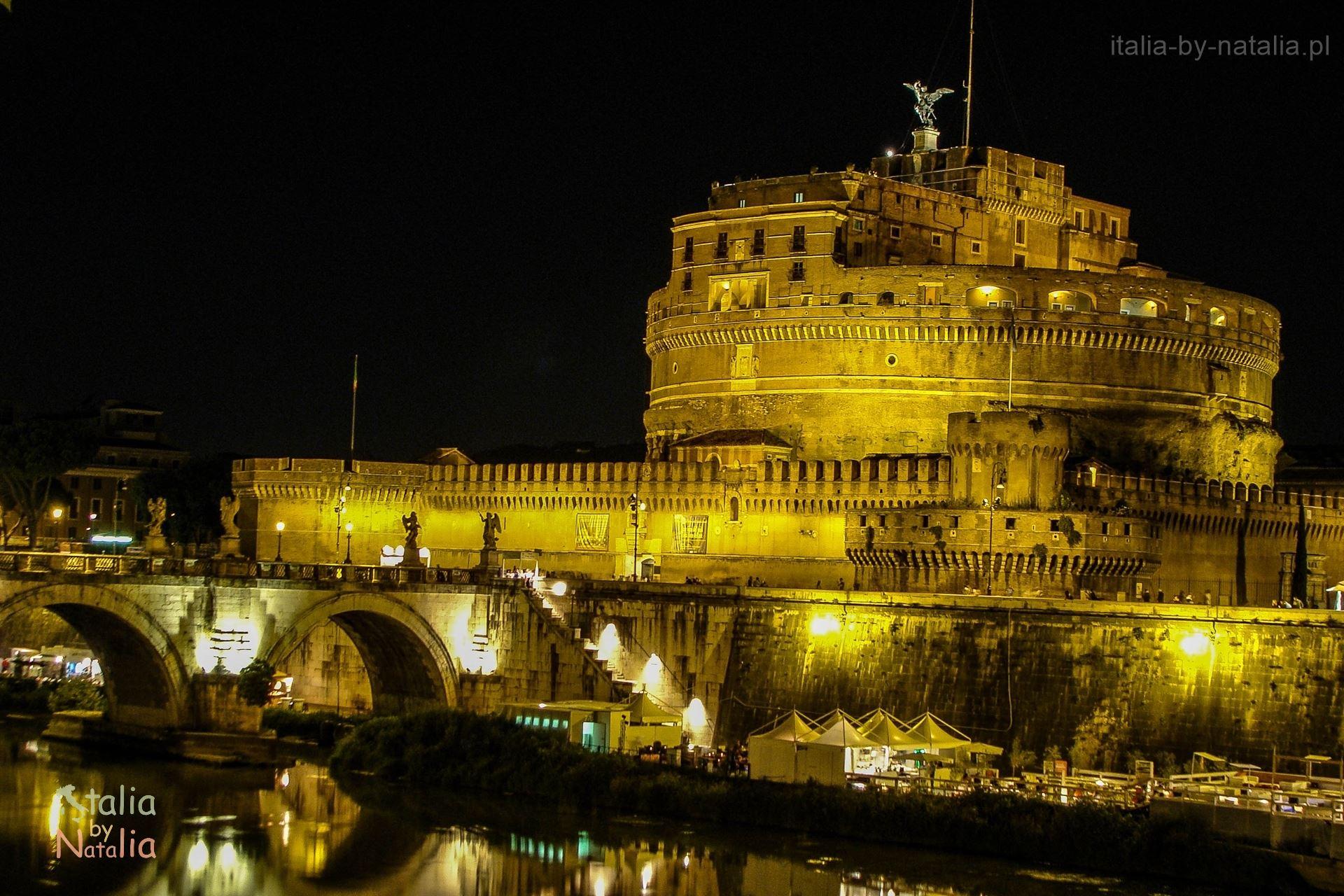 zamek św. Anioła nocne zwiedzanie Rzymu co zobaczyć