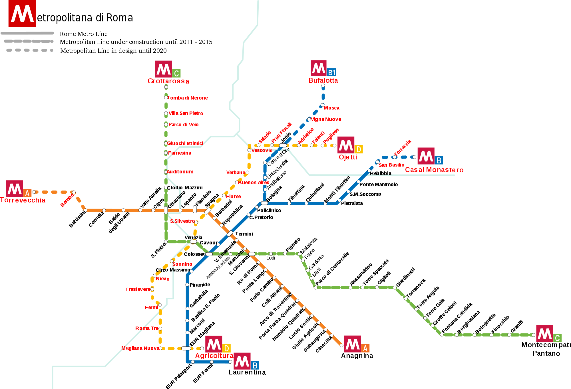 Mapa metro Rzym