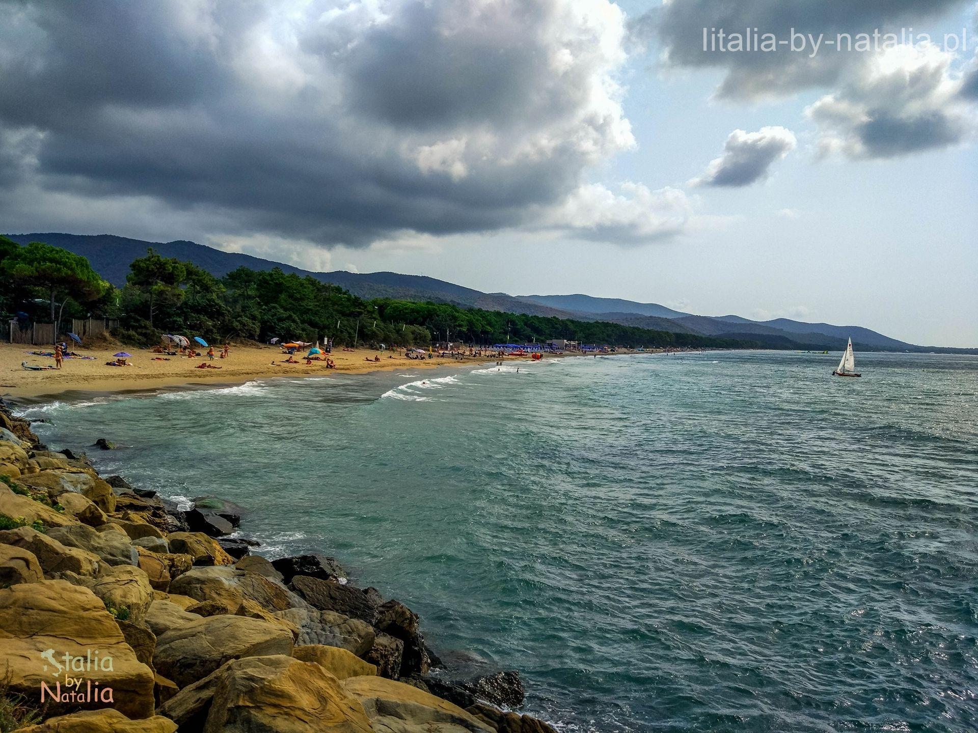 wybrzeze plaze toskanii punta ala