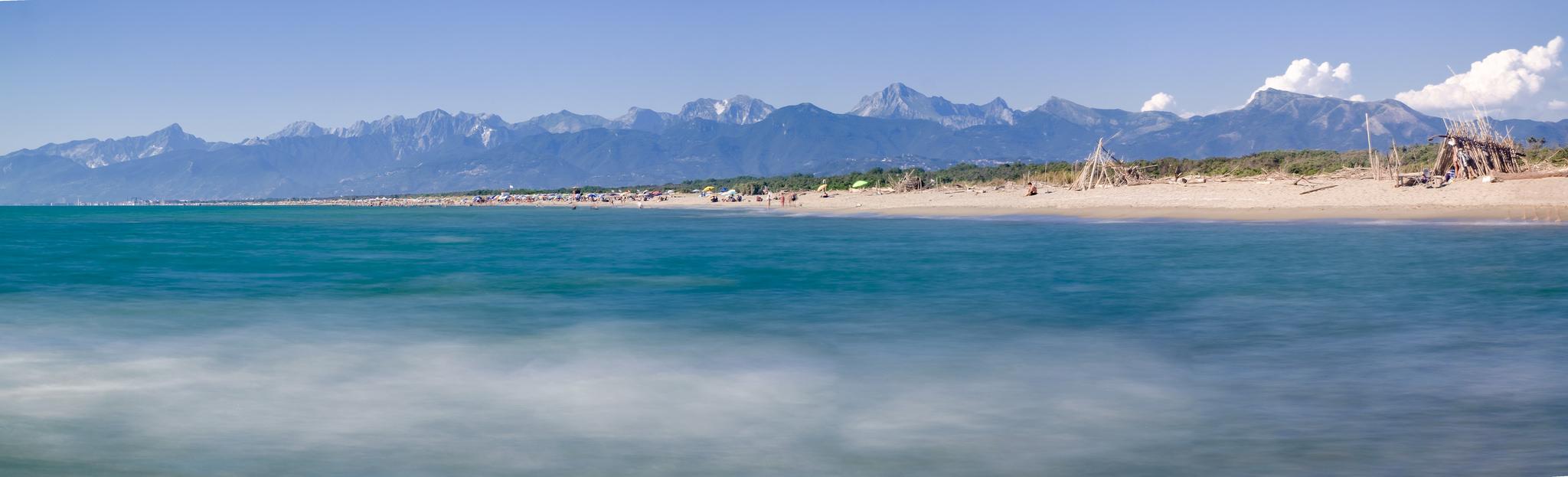 wybrzeze plaze toskanii Marina di Vecchiano